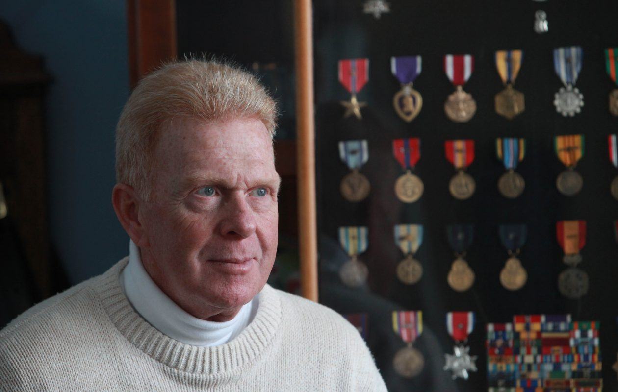 Robert Clark served 40 years in the military and received nearly 30 medals including a purple heart. He was photographed at his home in North Tonawanda on Tuesday, Dec. 21, 2010.   )(Sharon Cantillon/Buffalo News)