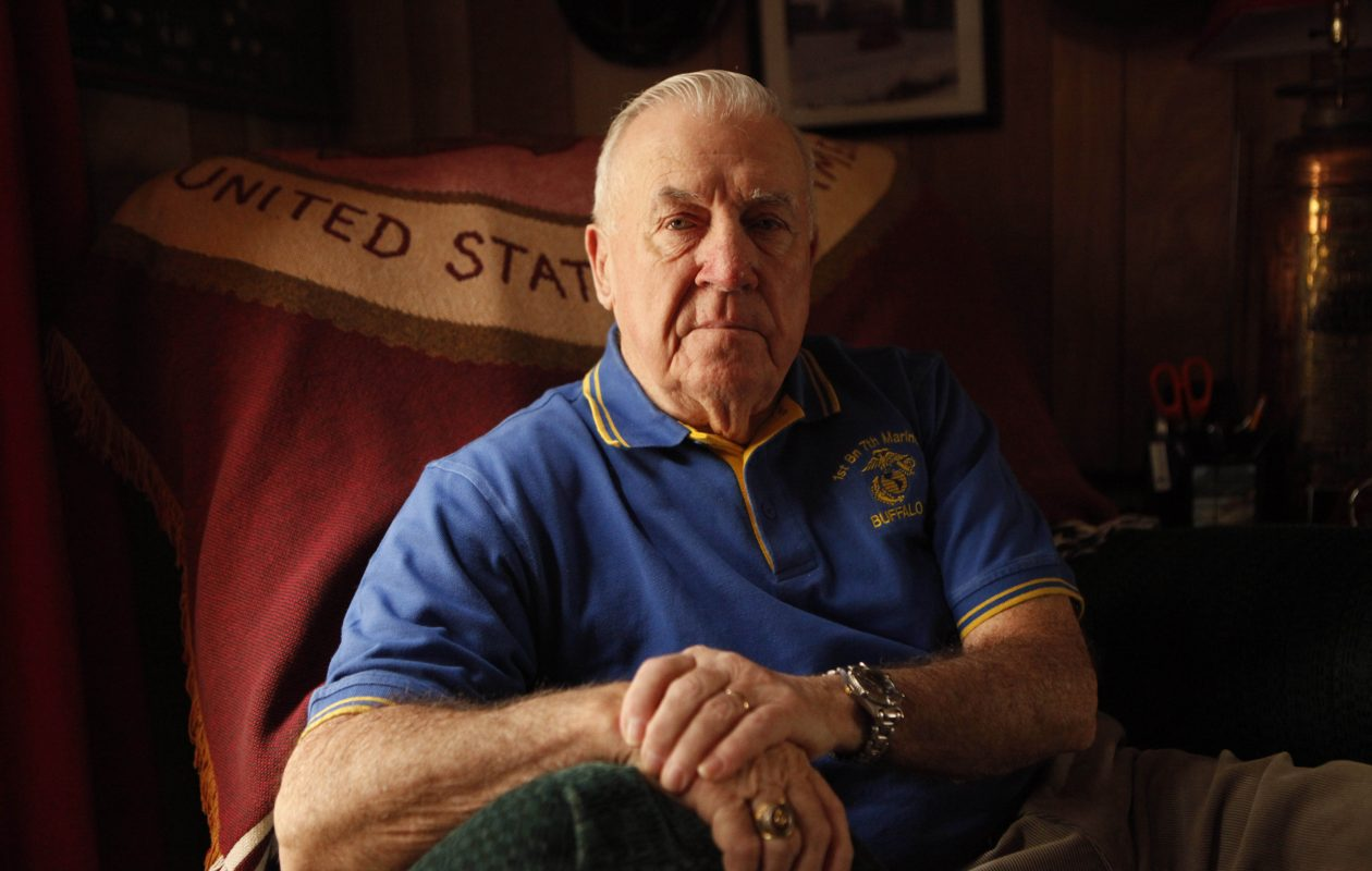 James Hannon served with the U.S. Marine Corps during the Korean War, where he was shot twice. He was pictured on March 22, 2011.  (Derek Gee/Buffalo News}