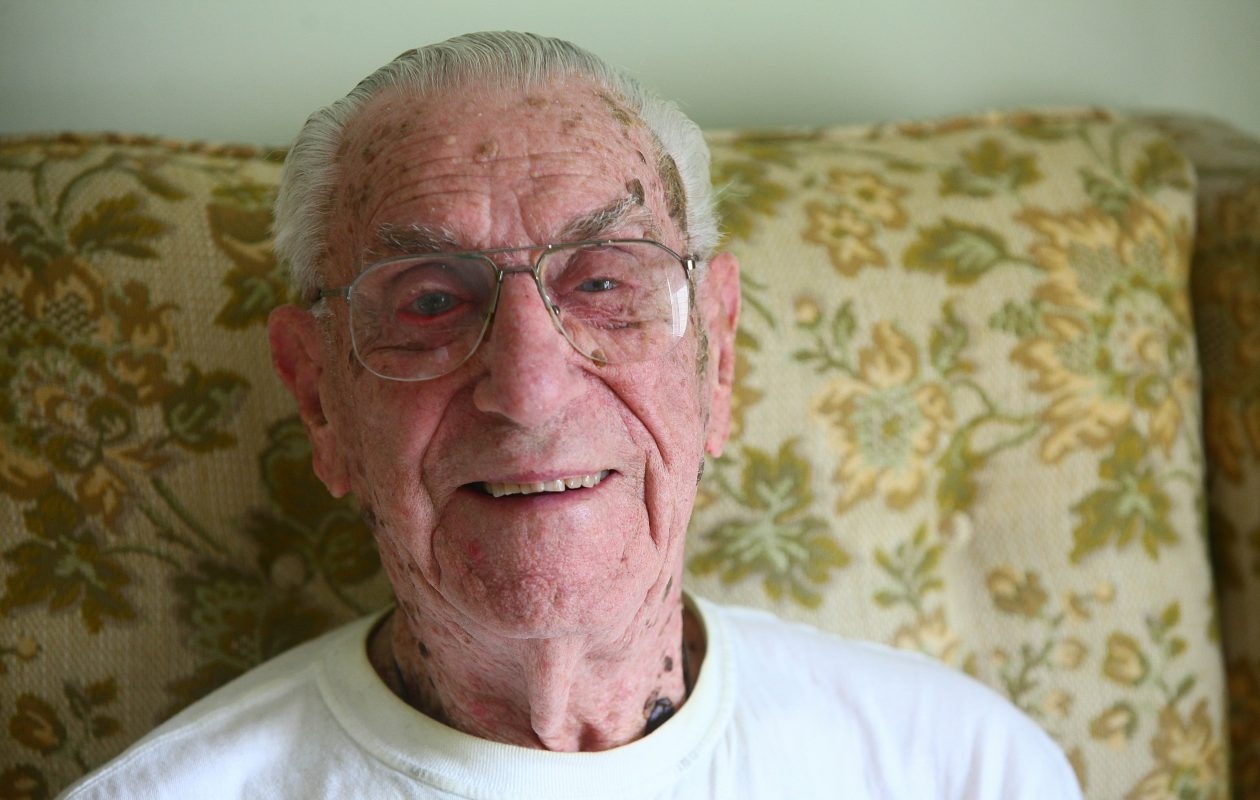 Henry Newbigging was a radio and radar man in WWII. He was in his Tonawanda home on Monday, June 11, 2012.  (Robert Kirkham/Buffalo News)