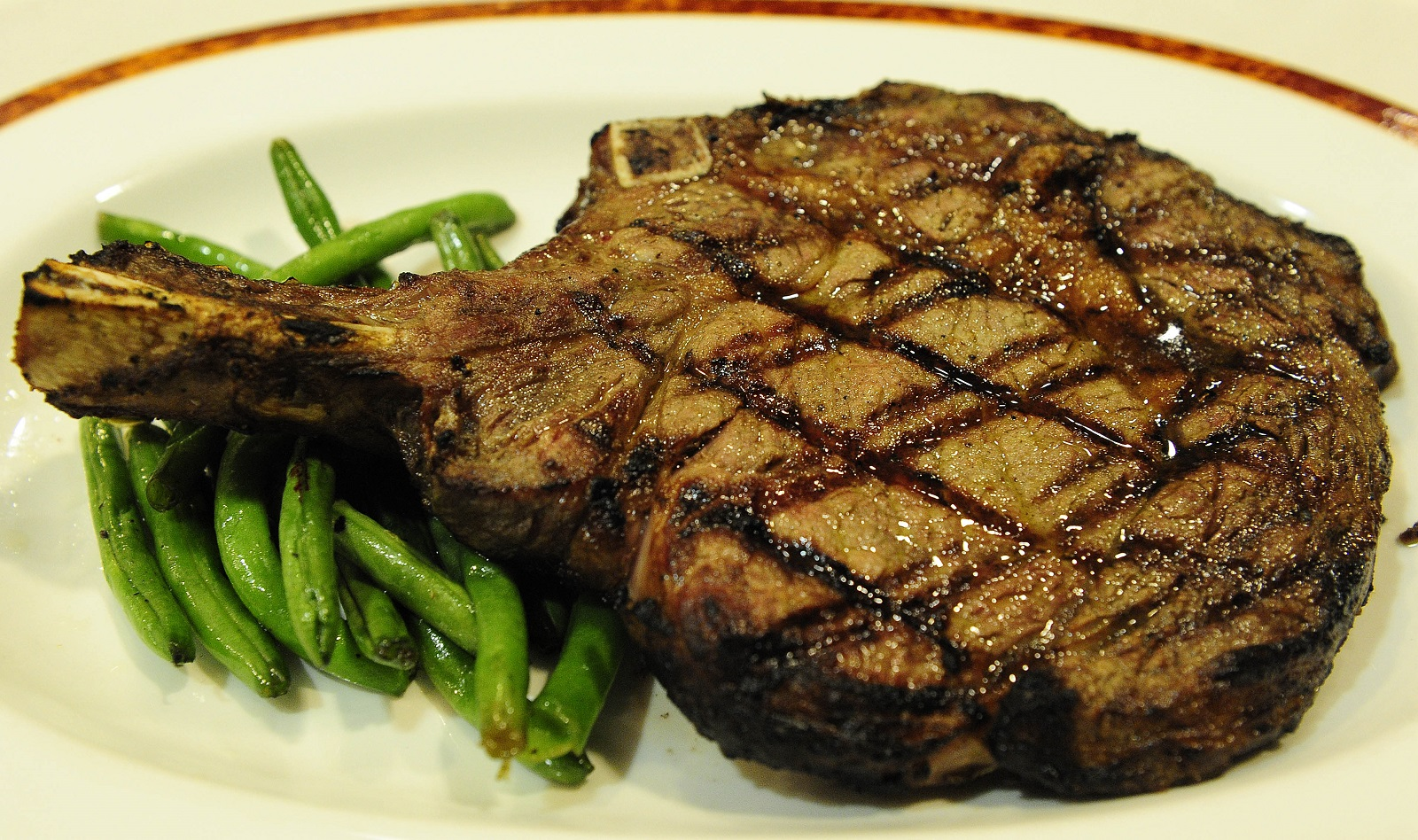 Bone-in ribeye steak at Western Door Steakhouse in the Seneca Niagara Casino. (Buffalo News file photo)