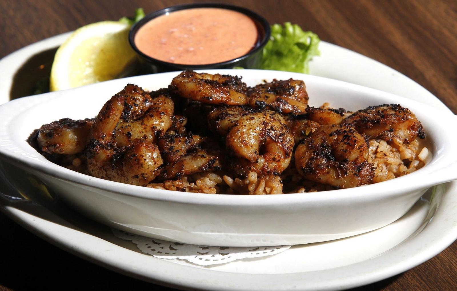 Chester's Cajun Grill's blackened shrimp appetizer. (Harry Scull Jr./Buffalo News)