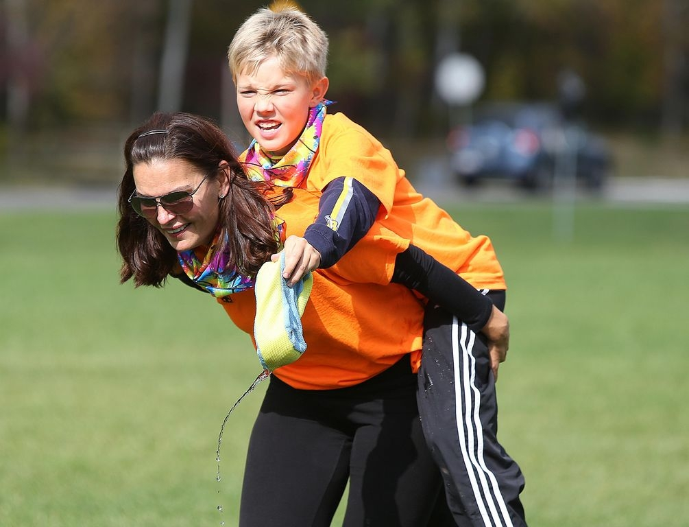 'It's great. I just wanted to have fun with my son and be a little competitive,' said Joann Wilks, 46, of Williamsville. Her teammate, her 10-year-old son, Cole, agreed. 'I like that I get to spend time with my mom, and it's fun.'