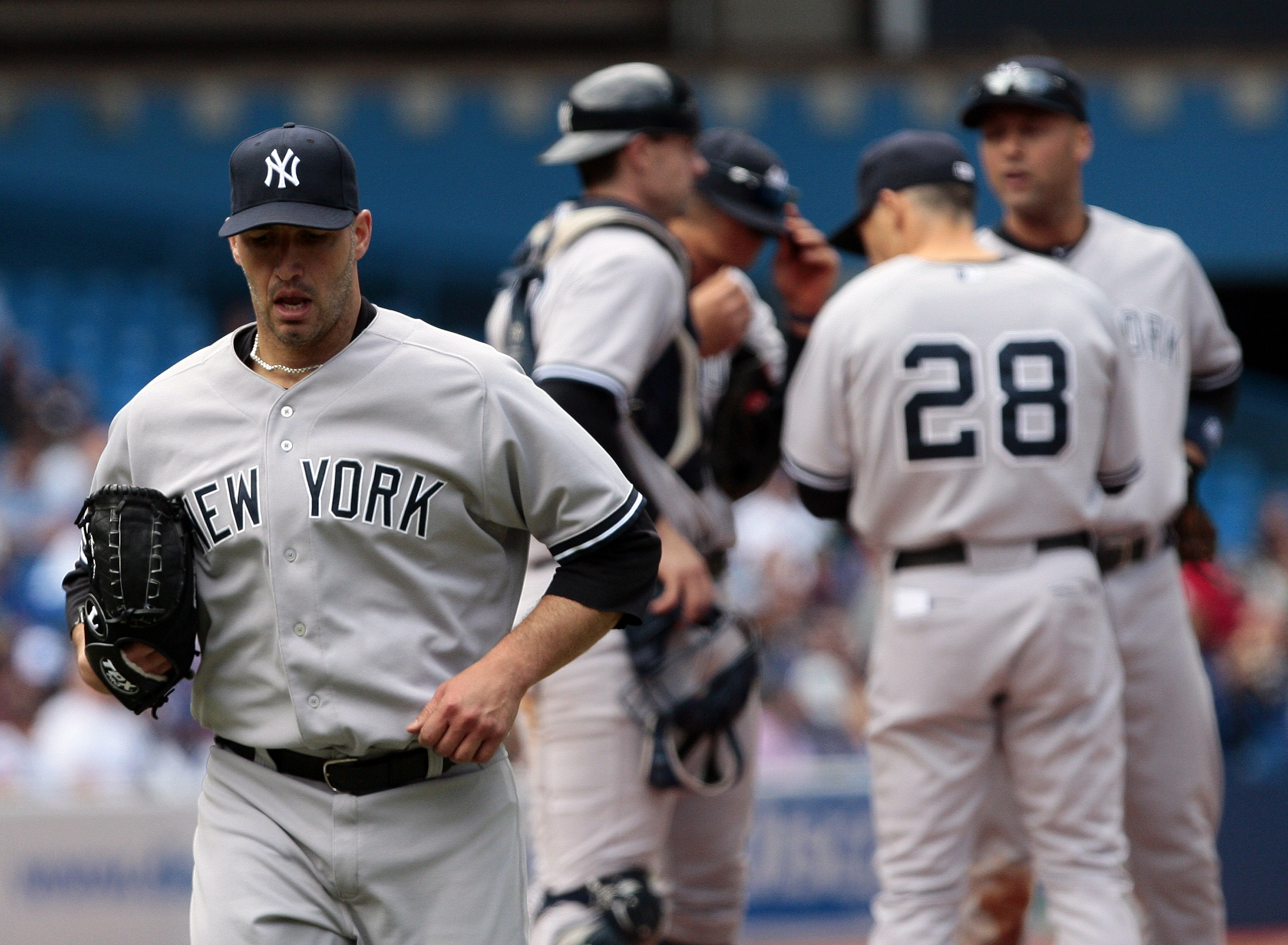 Andy Pettitte couldn't hold a 2-0 lead.