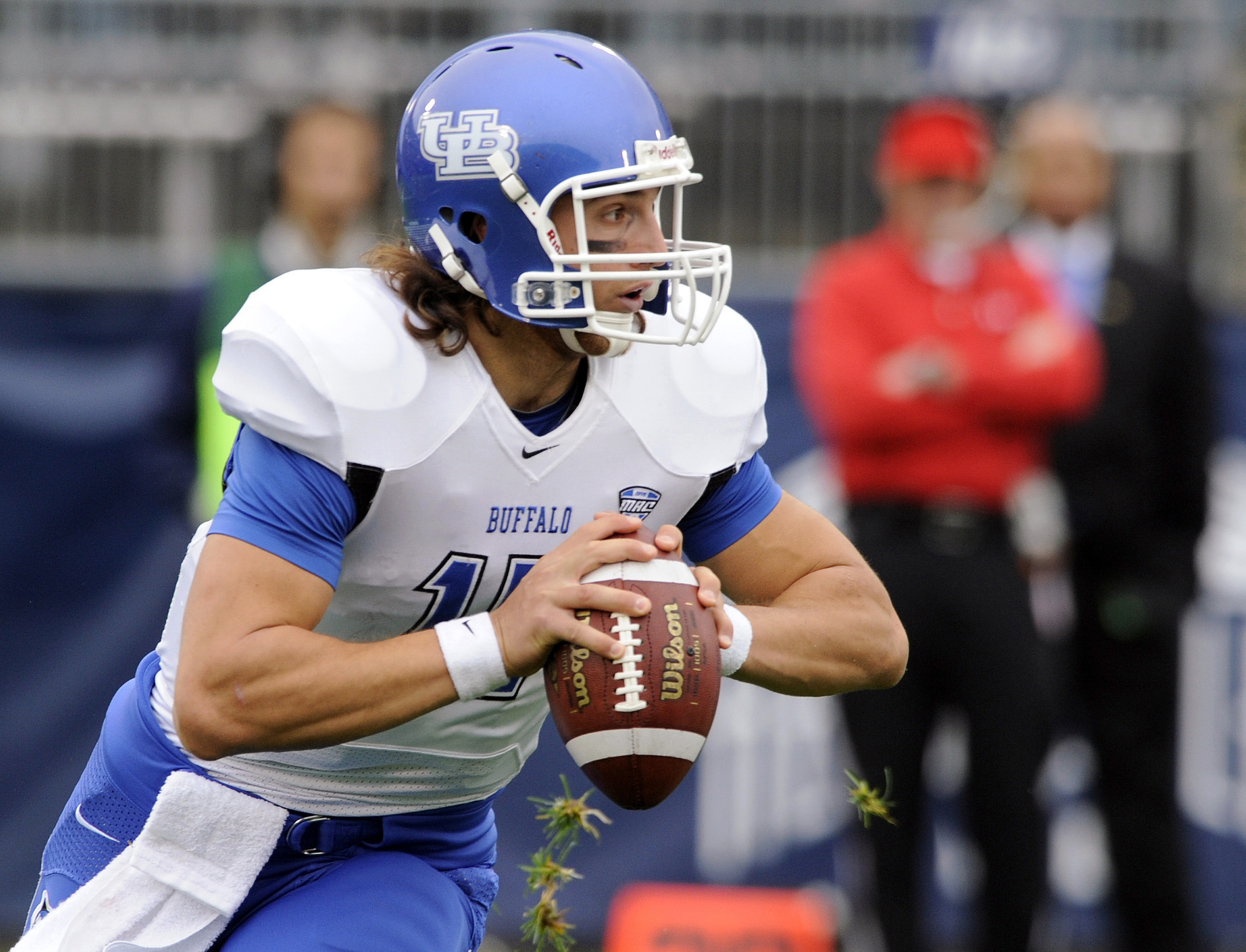Associated Press    UB's Alex Zordich completed only 13 of 30 passes in Saturday's loss to Connecticut.