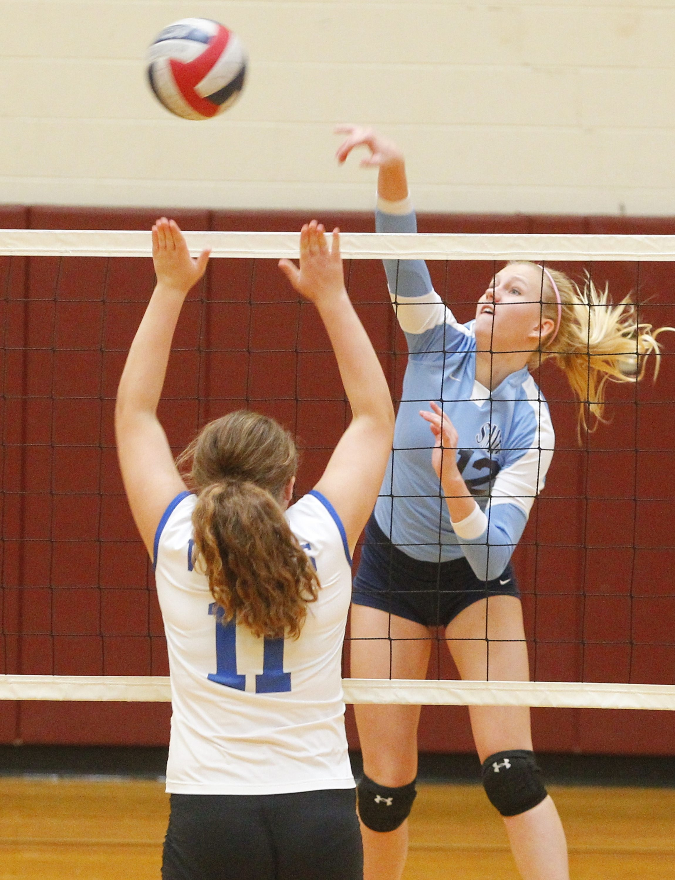 John Hickey / Buffalo News    Jackie Steck was named all-tournament as St. Mary's defended its title at the Eden Girls Volleyball Tournament.