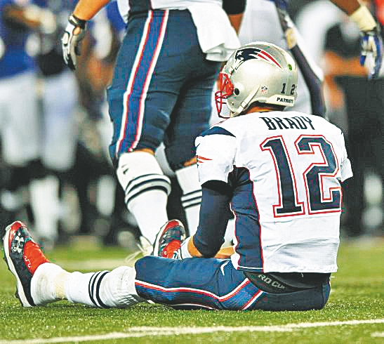 Tom Bray and the Pats have lost back-to-back games only four times in the last decade. (Associated Press)