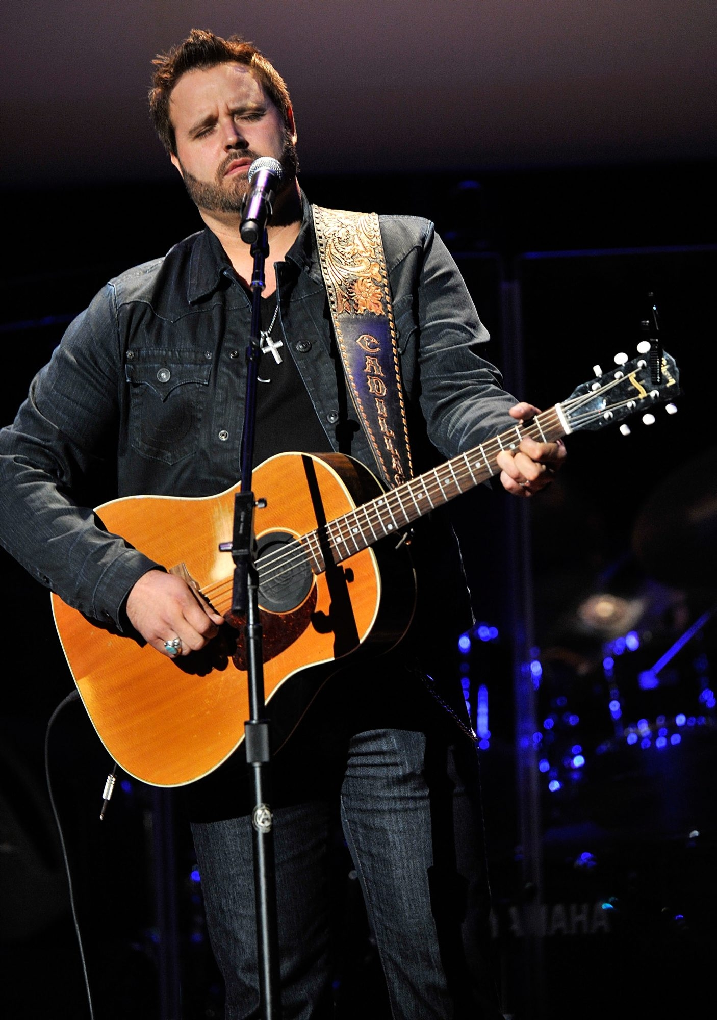 NASHVILLE, TN - SEPTEMBER 24:  Randy Houser performs at the 6th Annual ACM Honors  at Ryman Auditorium on September 24, 2012 in Nashville, Tennessee.  (Photo by Frederick Breedon IV/Getty Images for ACM)