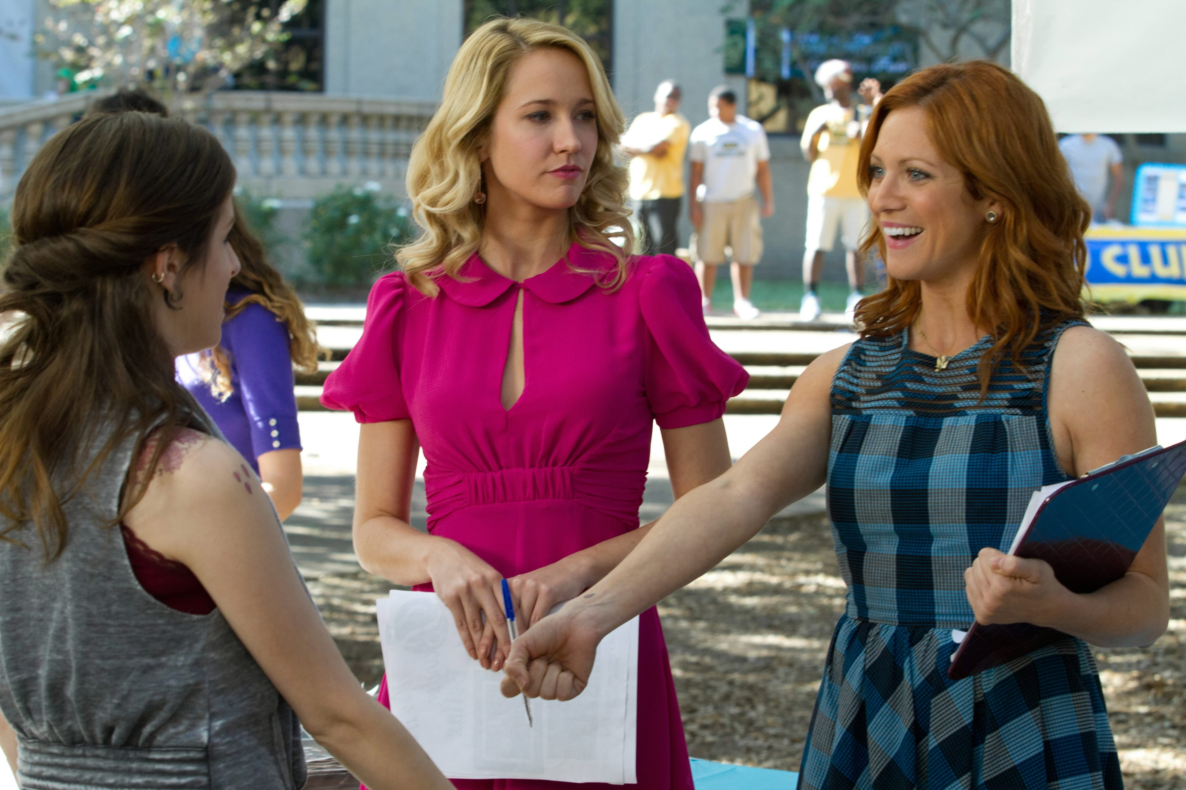 From left, Anna Kendrick, Anna Camp and Brittany Snow star in 'Pitch Perfect.'