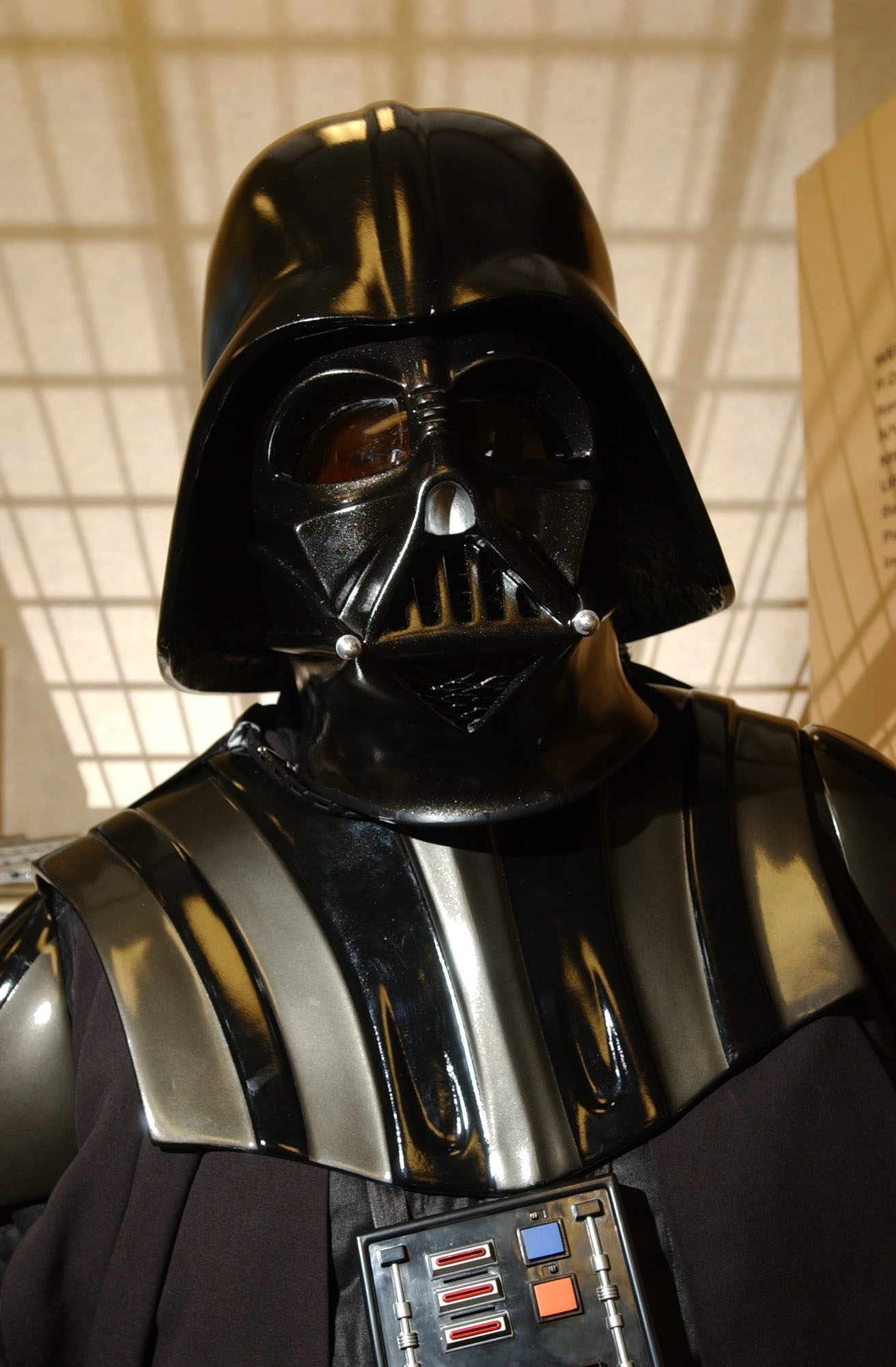 by Bill Wippert 5/14/05   Star Wars characters on display at Wegmans Alberta Drive store.  for Gusto.  Chris Solecki as Darth Vader