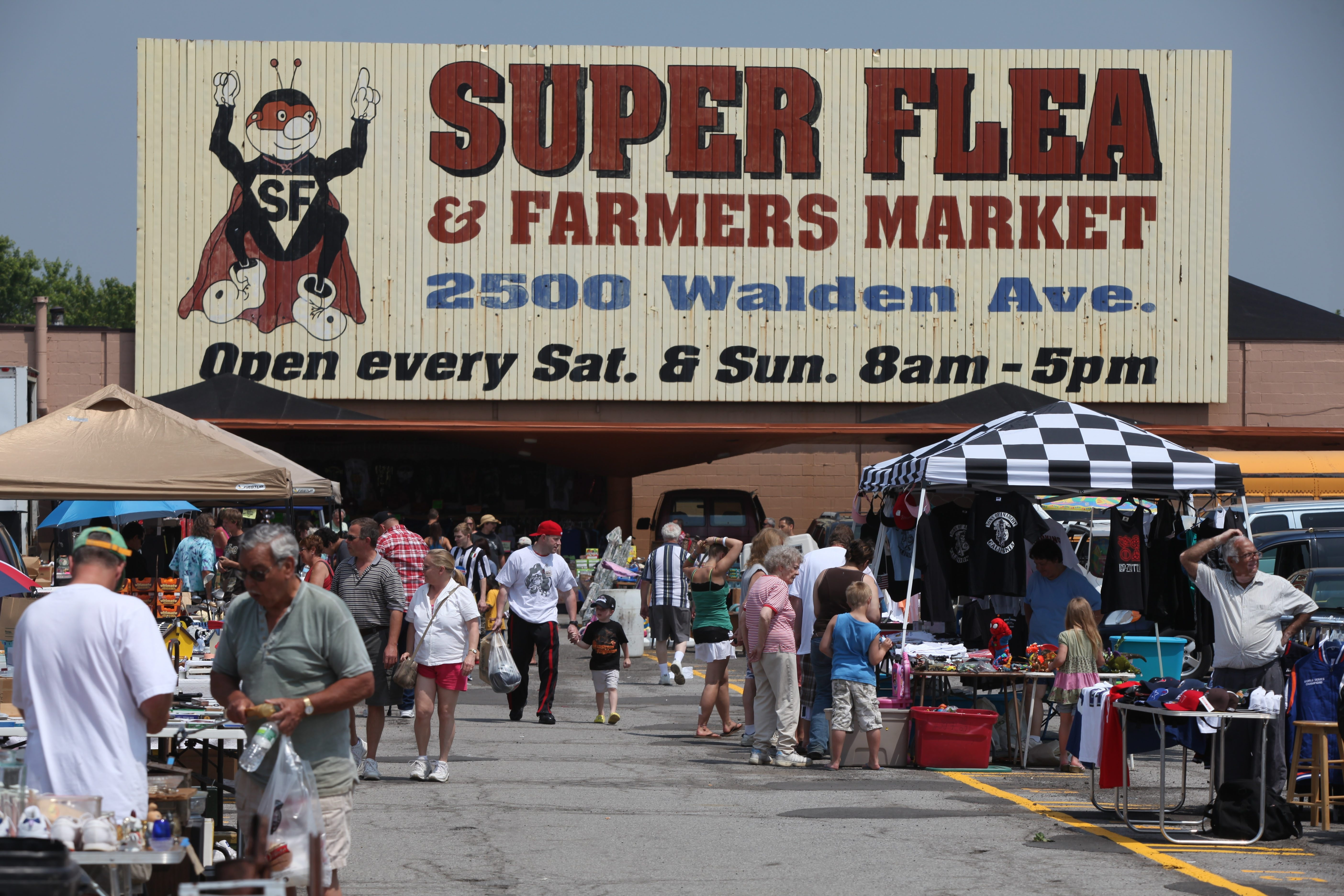 Charles Lewis/Buffalo News file photo    Walmart has announced a proposal to build a 24-hour Supercenter at the site of Super Flea & Farmers Market.