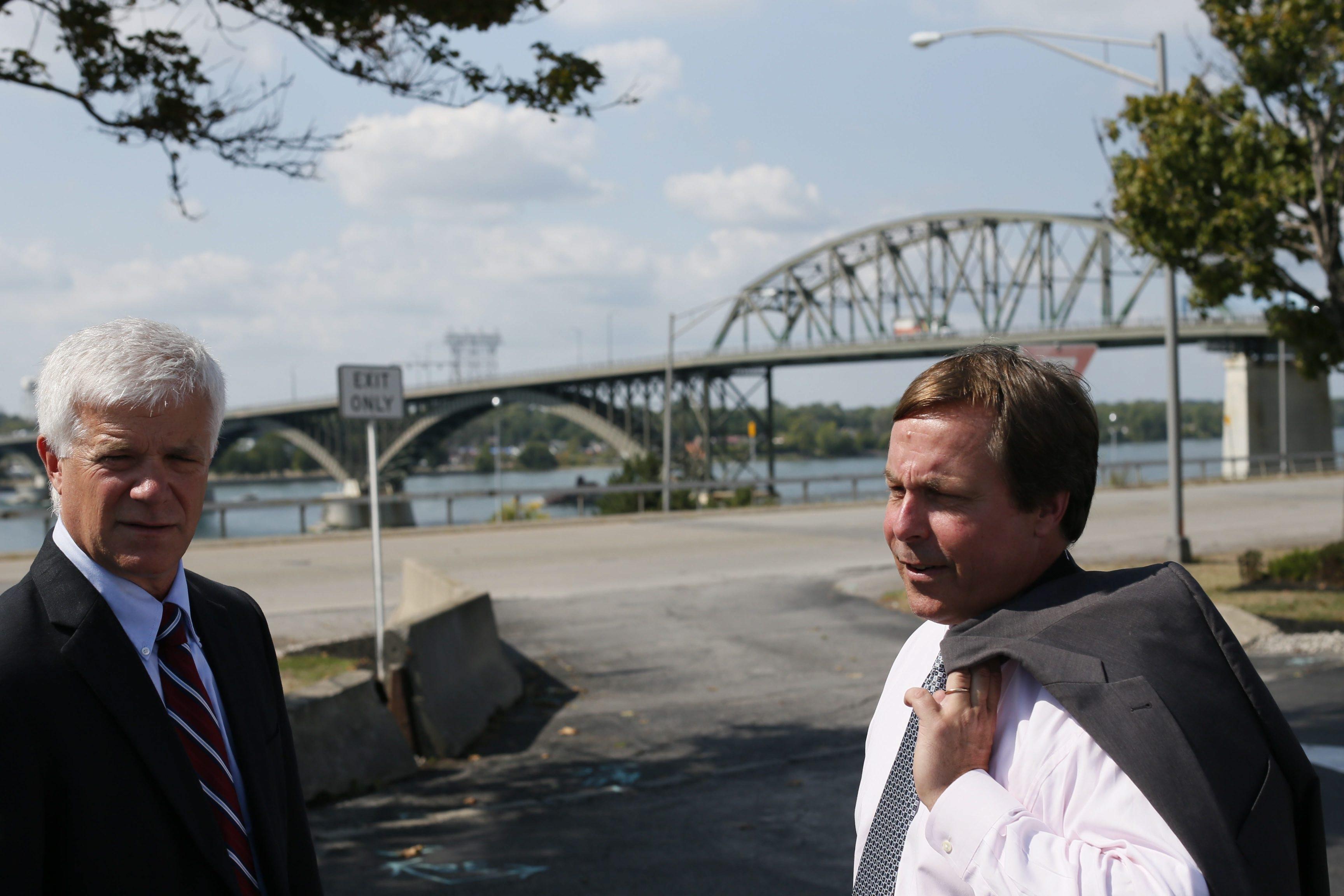 Derek Gee/Buffalo News    Sam Hoyt is chairman of the Buffalo and Fort Erie Public Bridge Authority.