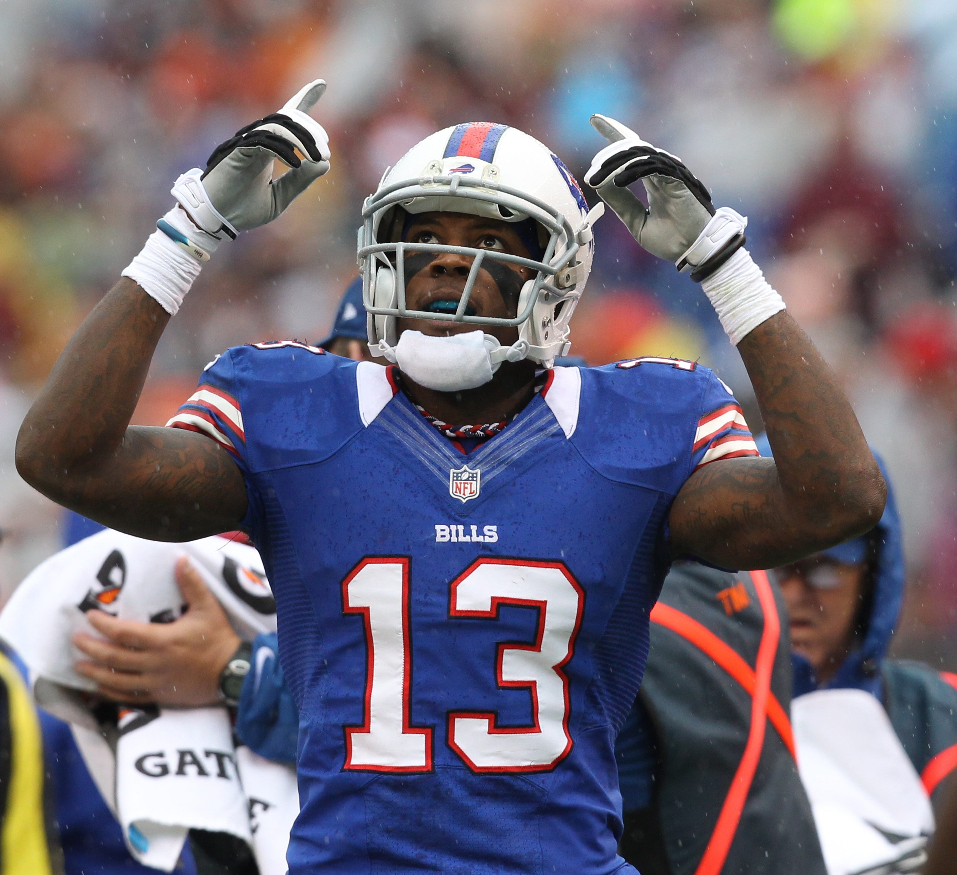 James P. McCoy / Buffalo News    Bills wide receiver Stevie Johnson has three touchdown catches in the first three games.