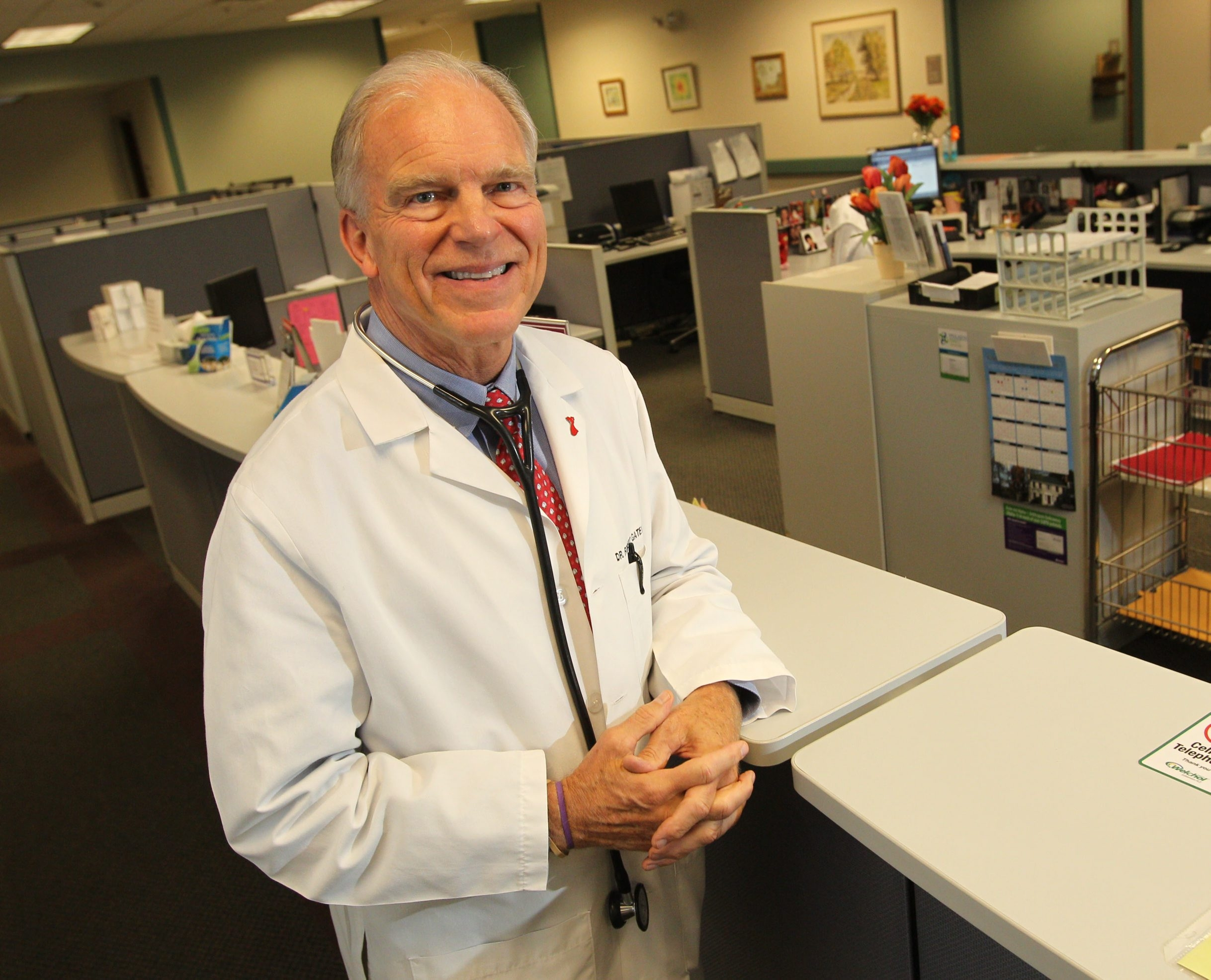 Sharon Cantillon/Buffalo News  'With health care costs spiraling out of control, we need to do something to pull in the reins.' - Dr. Robert Gatewood, of Buffalo Cardiology and Pulmonary Associates in Williamsville