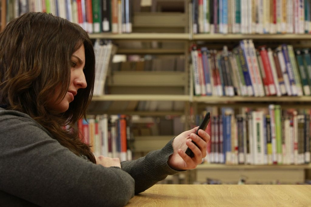 In this file photo, Michelle Snyder reads during her lunch at the library.