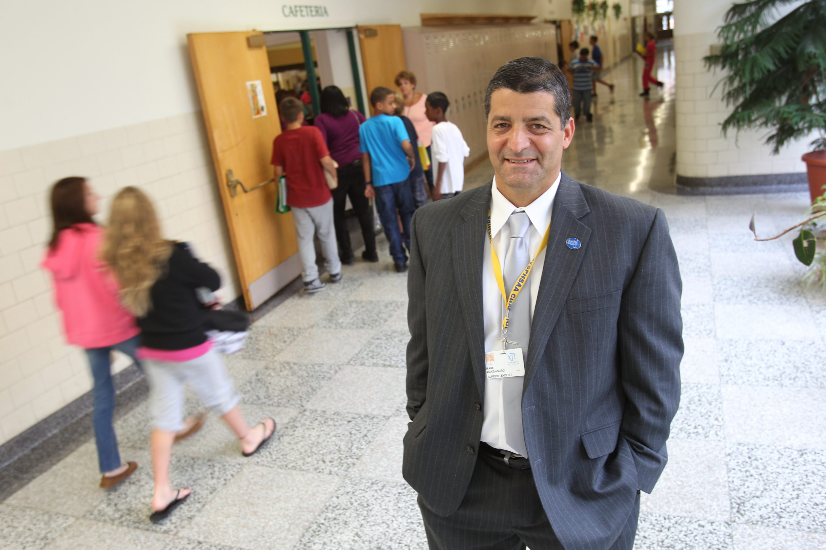 Sharon Cantillon/Buffalo News  'The district couldn't build schools fast enough ... for many, many decades,' says Ken-Ton Superintendent Mark Mondanaro, who faces a different scenario now.