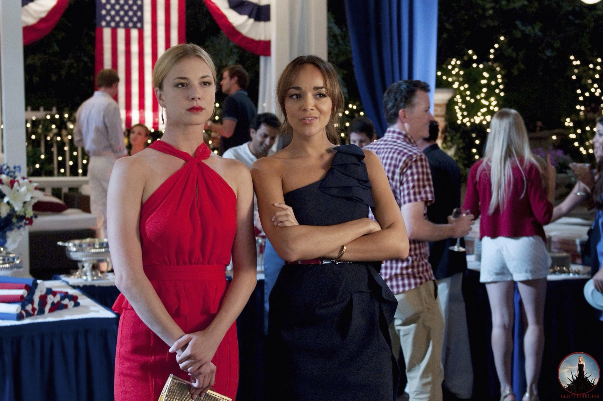 Emily VanCamp, left, and Ashley Madekwe star in the ABC series 'Revenge.' The prime-time soap's first season, which caused a seasonlong buzz, is now available on DVD.