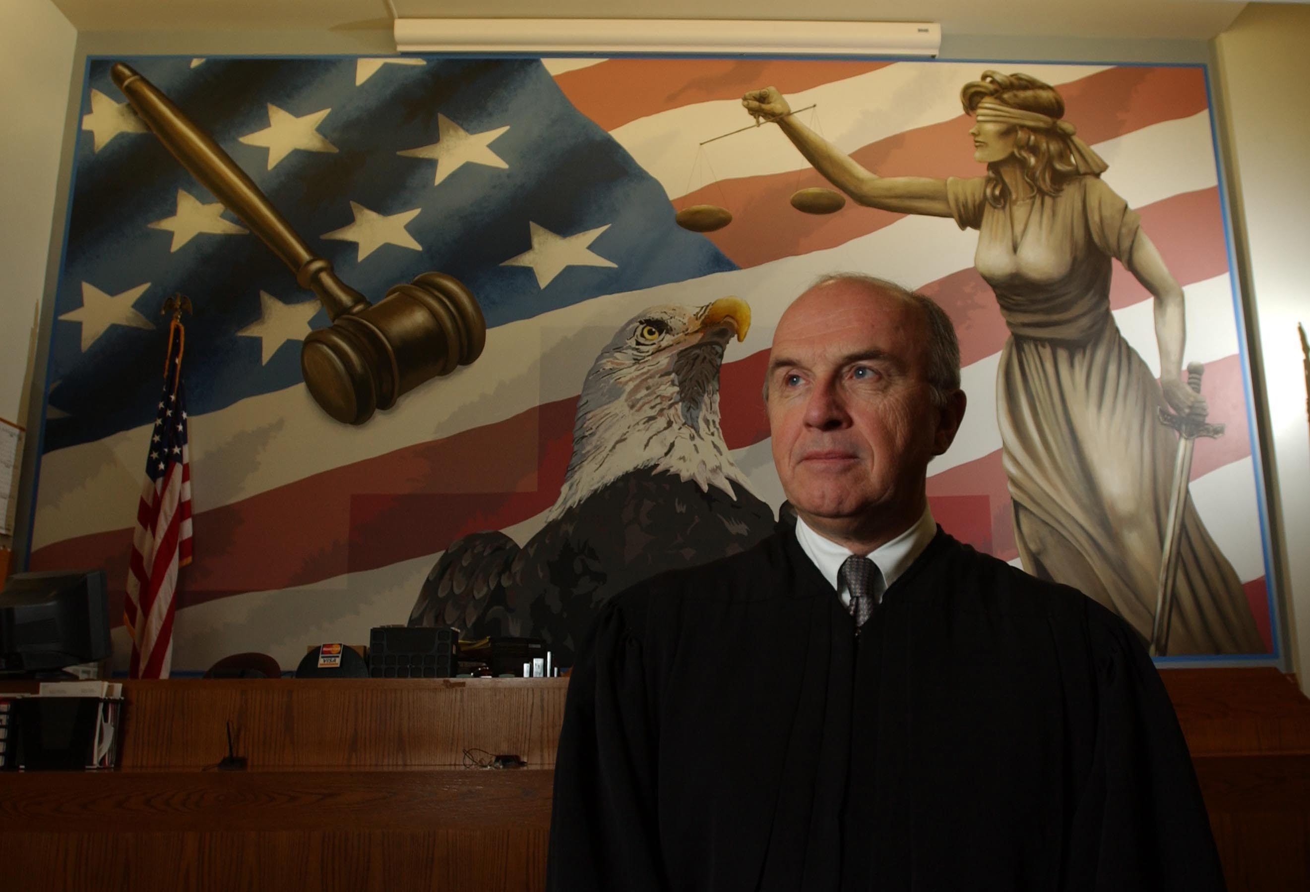News file photo    Amherst Town Judge Mark G. Farrell was promoted to full-time status in January 2011. The position pays $96,700.