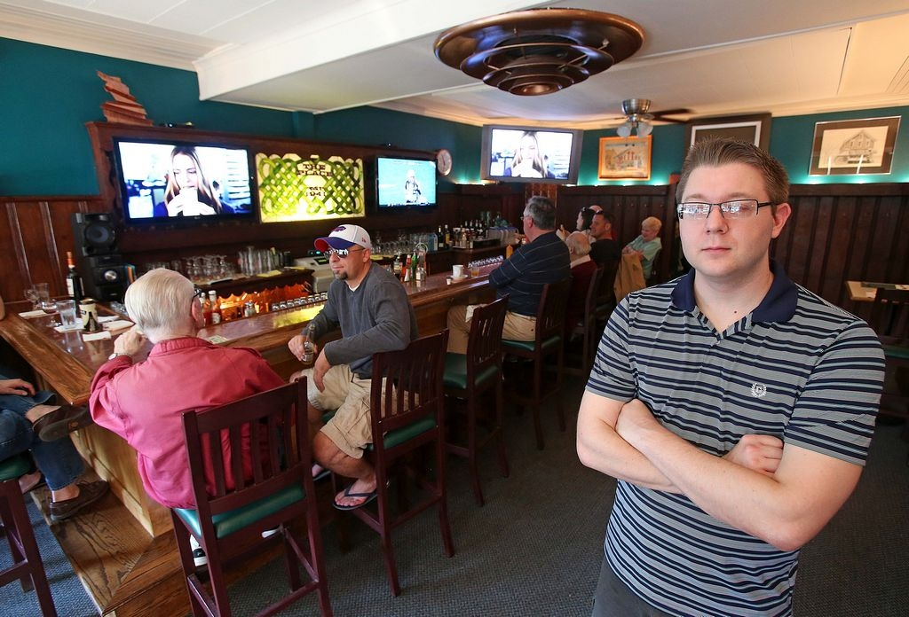 Bar owner Ken Moriarty Jr., of The Place at Lexington and Ashland avenues, says up to 40 people patronize the bar area to watch each Sabres game and others have dinner before games and stop in afterward.