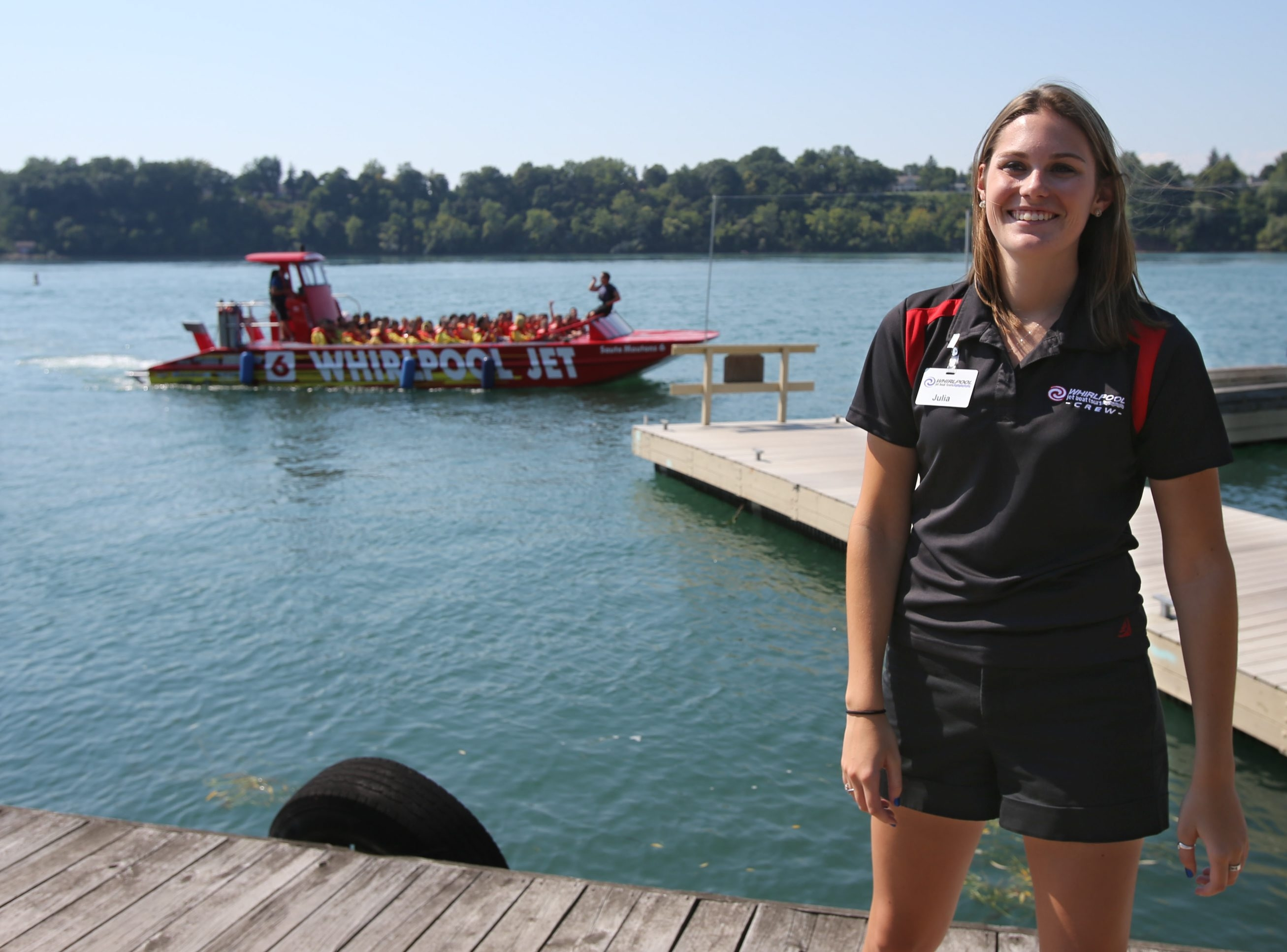 Julia Kling is a supervisor for the Whirlpool Jet Boat Tours.