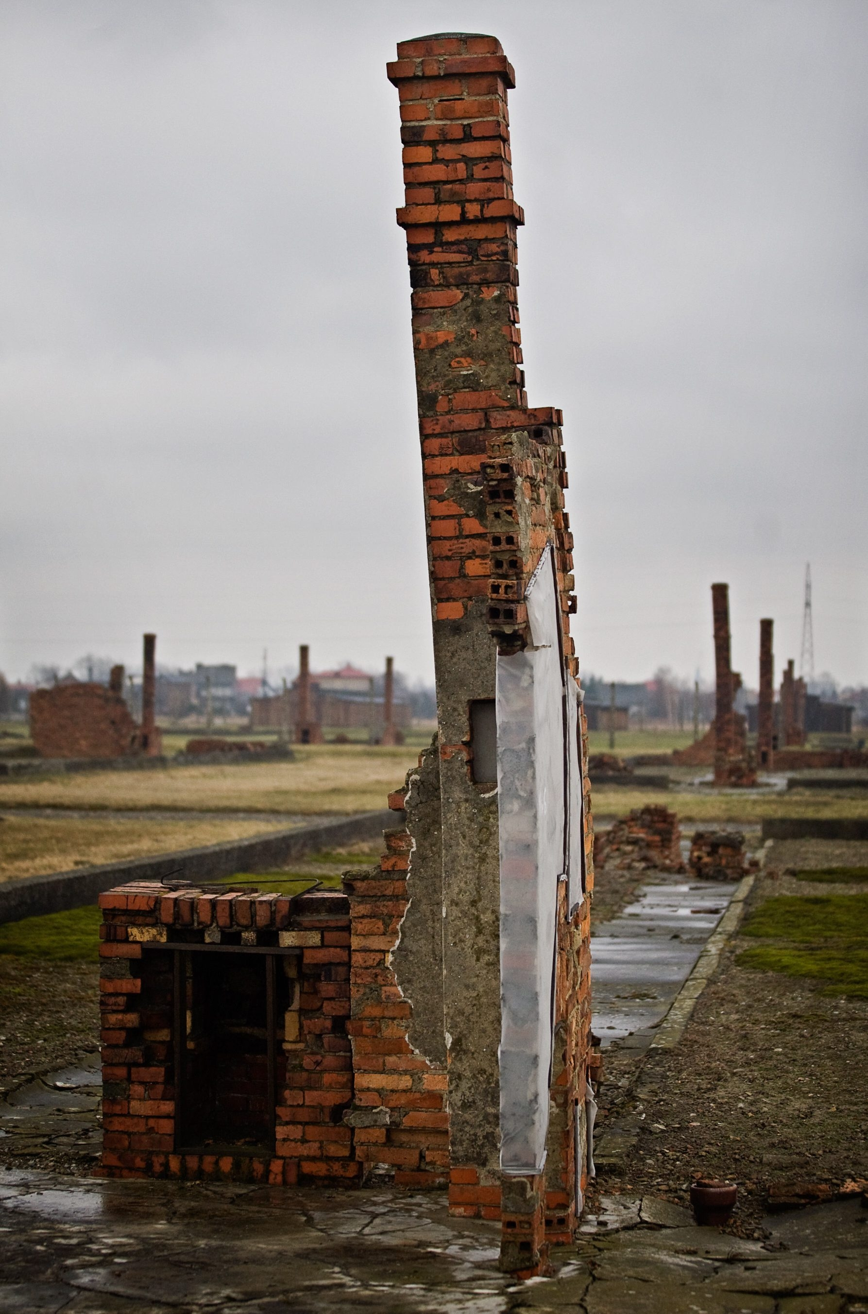Getty Images    The wrecked chimneys at Auschwitz in Poland.
