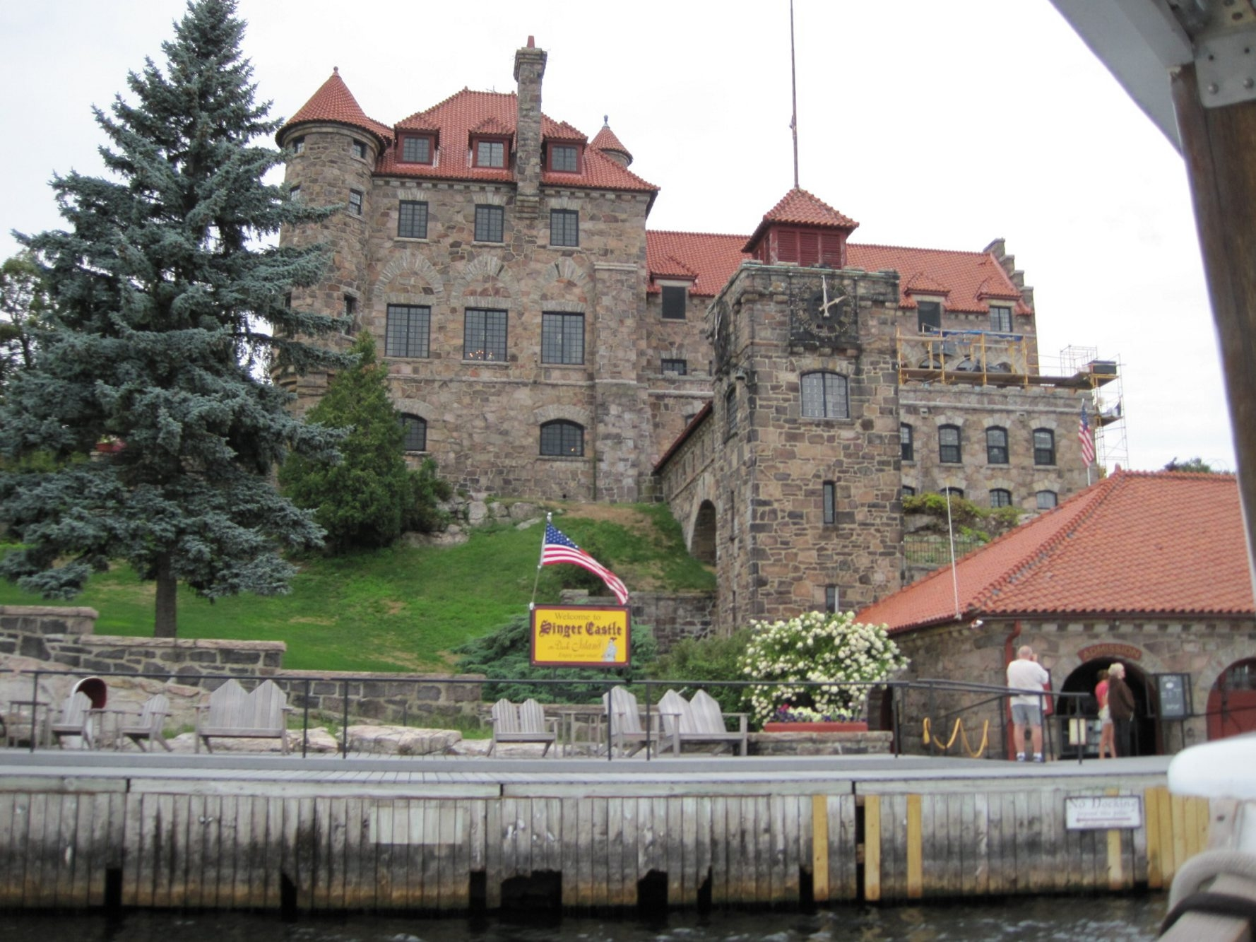 Singer Castle, on Dark Island in the St. Lawrence River, was built at the turn of the 20th century by Frederick Gilbert Bourne, president of the Singer Manufacturing Co. Today, the 28-room castle is open for tours.