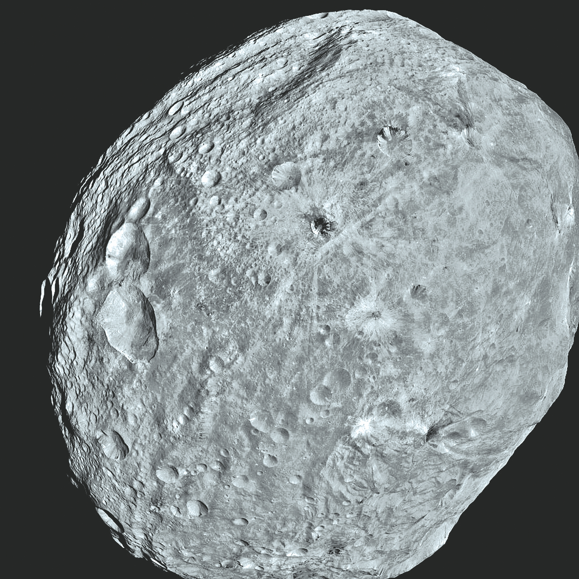 Getty Images    This NASA handout shows an image of Vesta as seen from the Dawn spacecraft.
