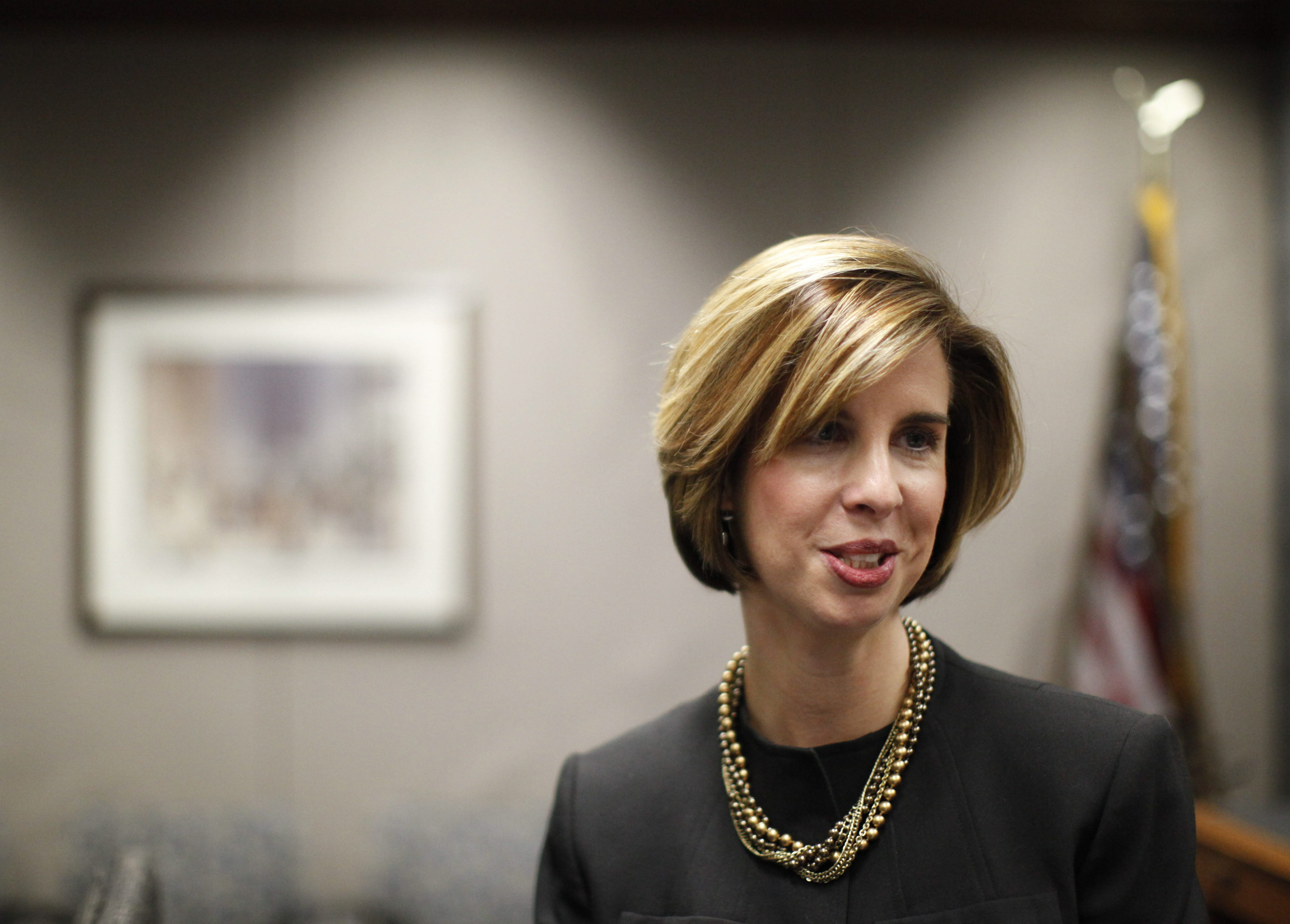 { FOR BRIAN MEYER STORY } Kimberley A. Minkel was named Executive Director of the NFTA, Tuesday morning, Dec. 28, 2010.  {Photo by Derek Gee / Buffalo News}
