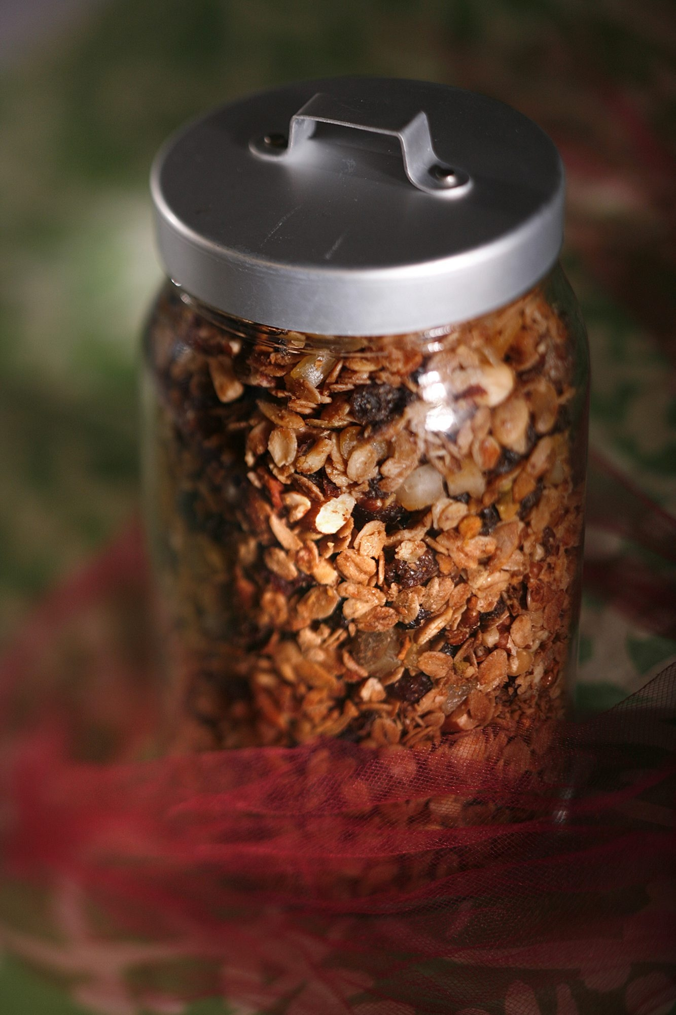 This granola mix would make a terrific gift, packaged in a storage jar.