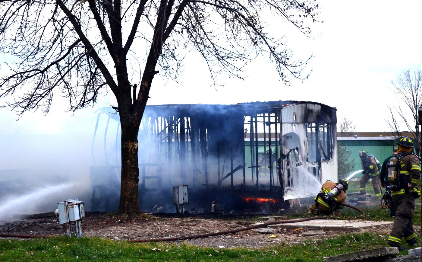 Suspicious fire at vacant mobile home Nov. 12 in Sabre Park added to concerns as new owner Fashion Outlets II plans for expansion.