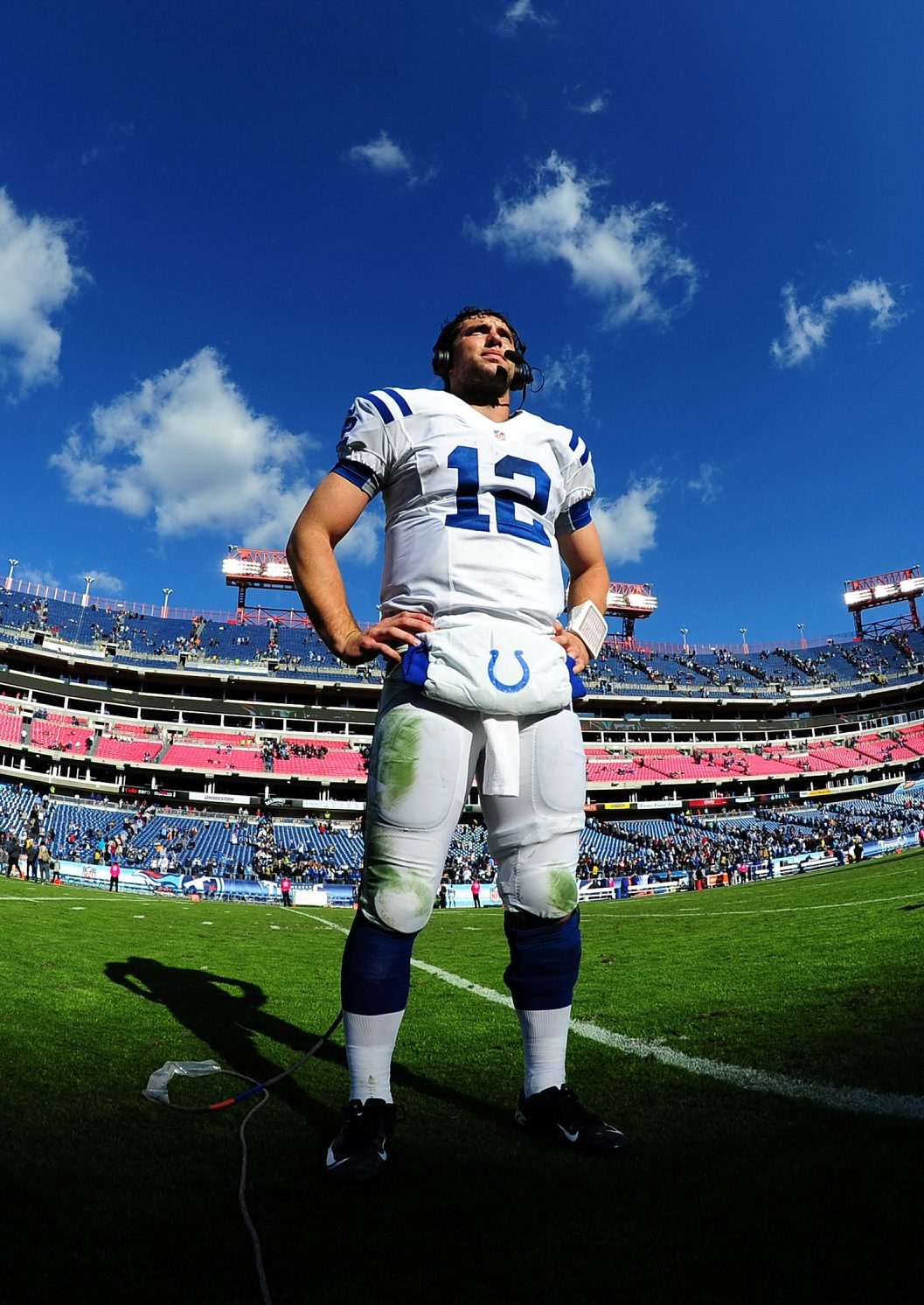 Andrew Luck of the Indianapolis Colts has lived up to his billing so far as the first overall pick in this year's NFL Draft. (Photo by Getty Images)