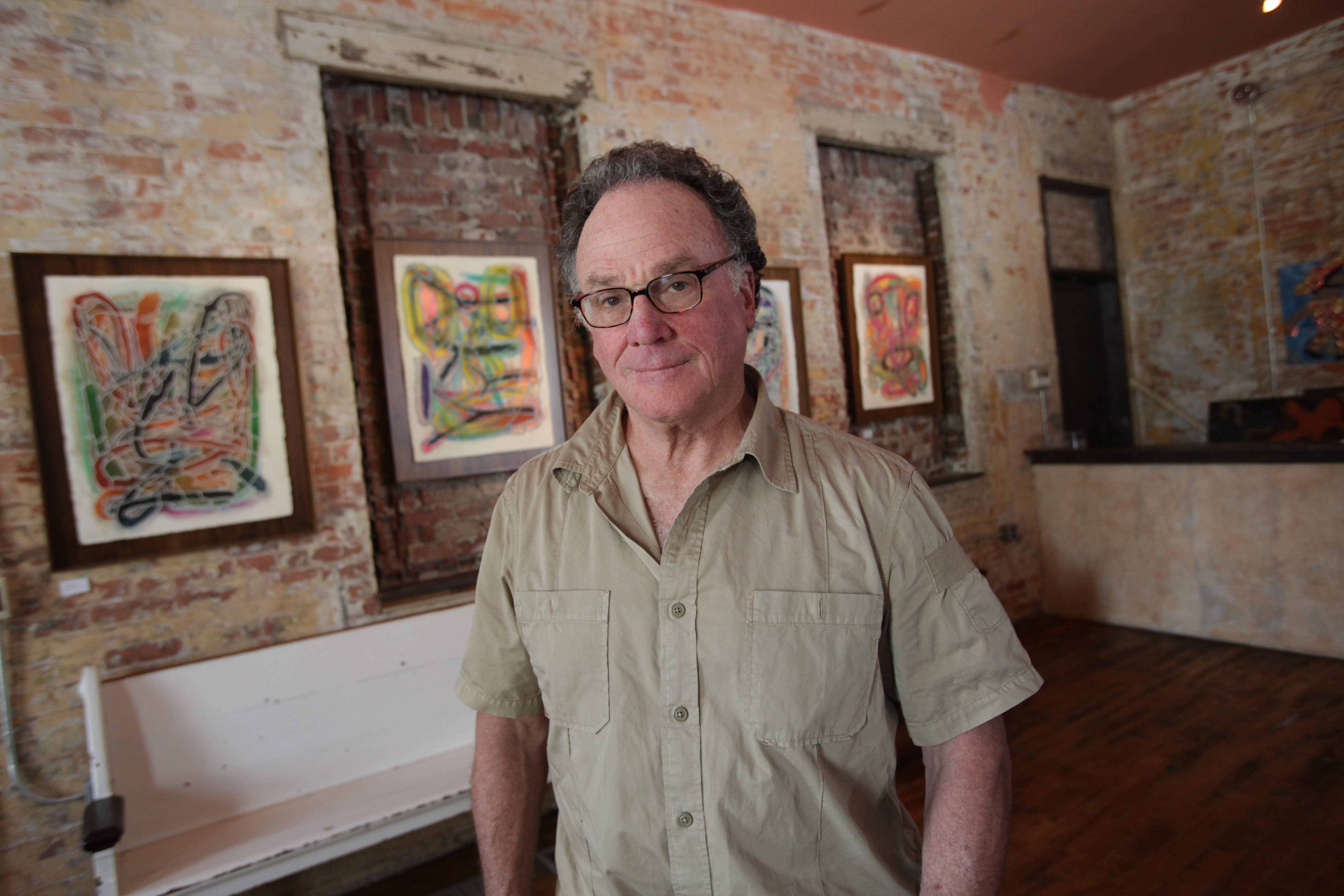 {photo for features story} Entrepreneur, restaurateur and arts supporter Mark Goldman in his new room in the Allen Street Hardware Cafe on Friday, May 13, 2011.    {Photo by Sharon Cantillon / Buffalo News }