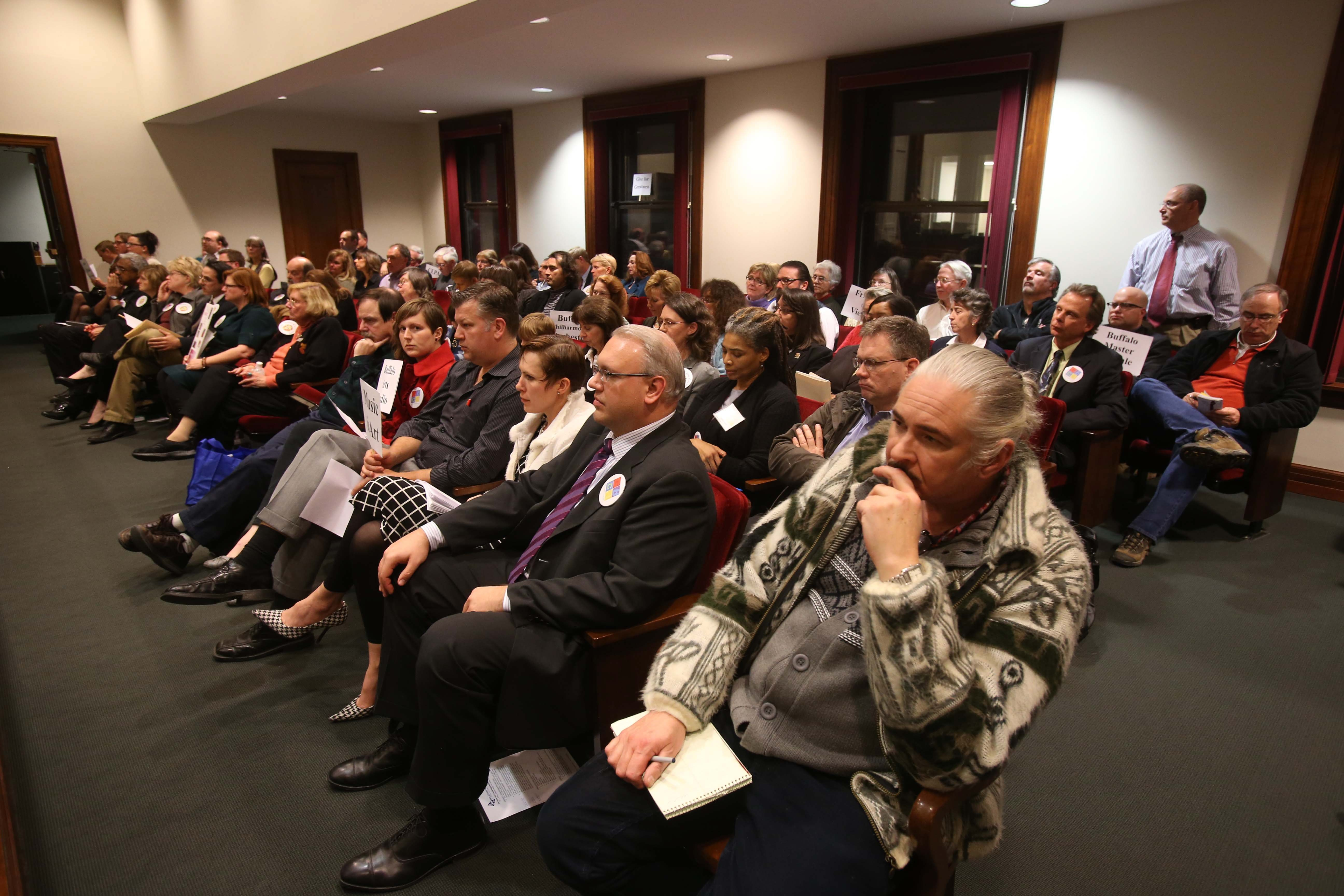 A packed house, mostly of officials from cultural groups, showed up at the County Legislature meeting on Monday. (Robert Kirkham/Buffalo News)