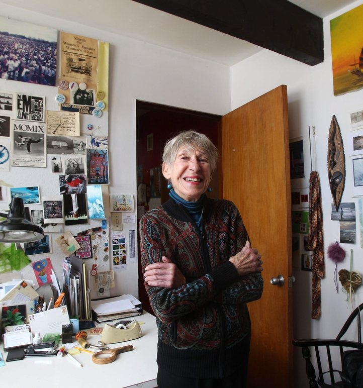 Author Sylvia Coles in the office of her Buffalo home.