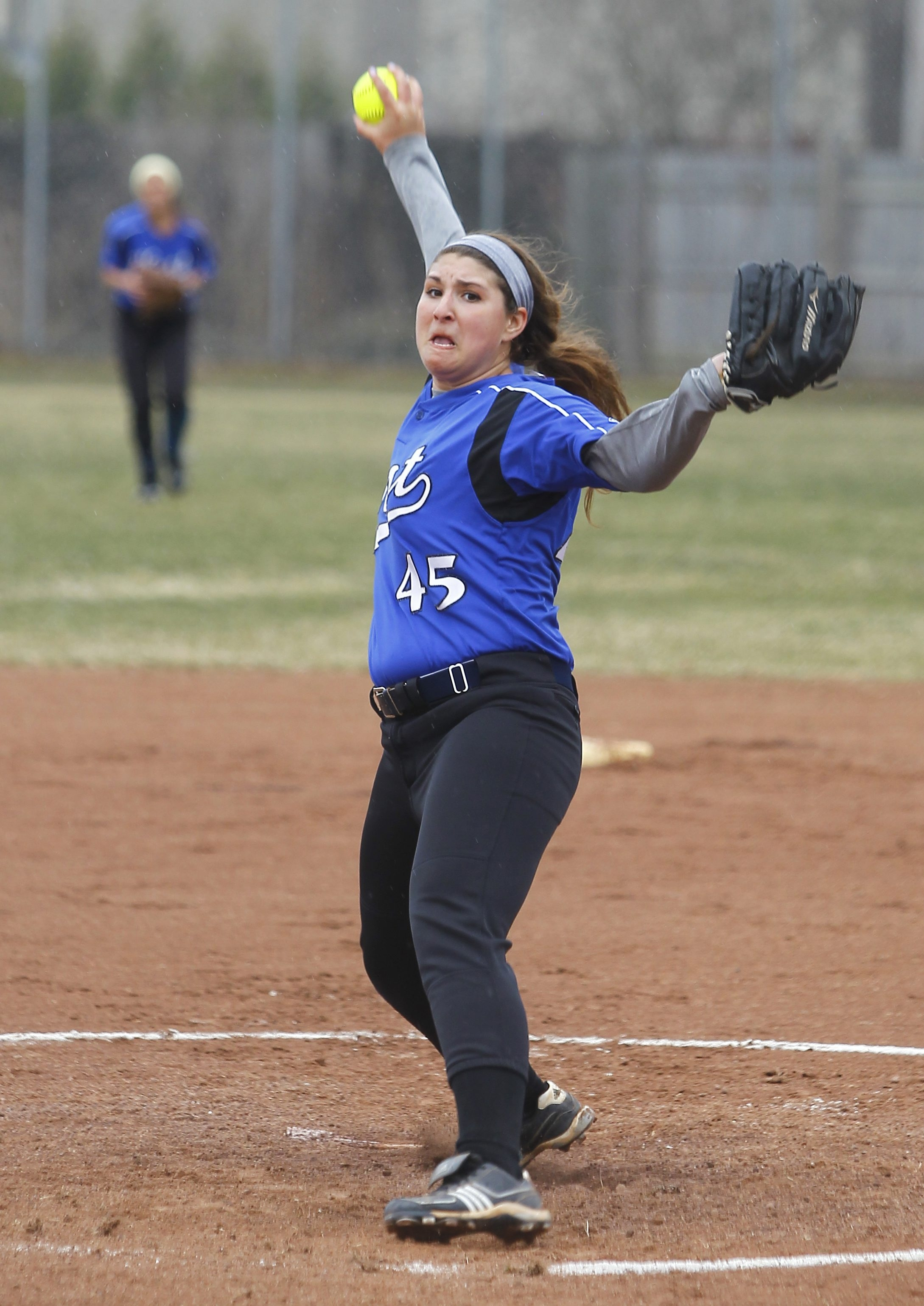 Pitcher Charlotte Miller and the Kenmore West Blue Devils share the No. 6 spot in the latest large school softball poll.