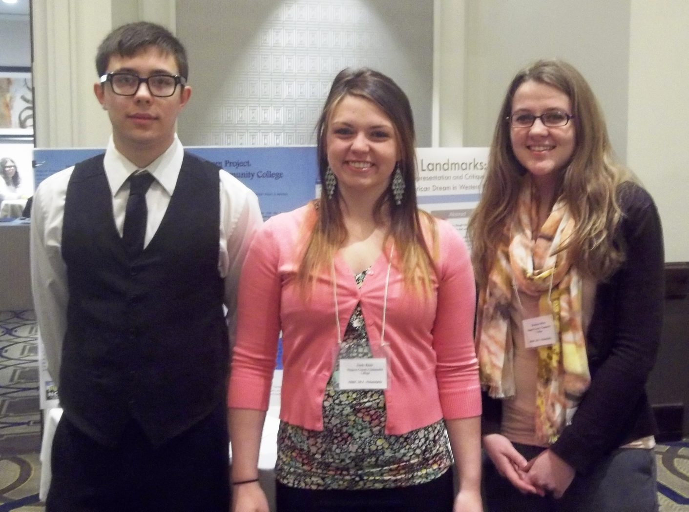 Niagara County Community College students Dakota Reynolds of Niagara Falls, Emily Thiele and Hosanna Gifford of North Tonawanda, participated in the 2013 Northeast Regional Honors Conference in Philadelphia, April 4 – 7.