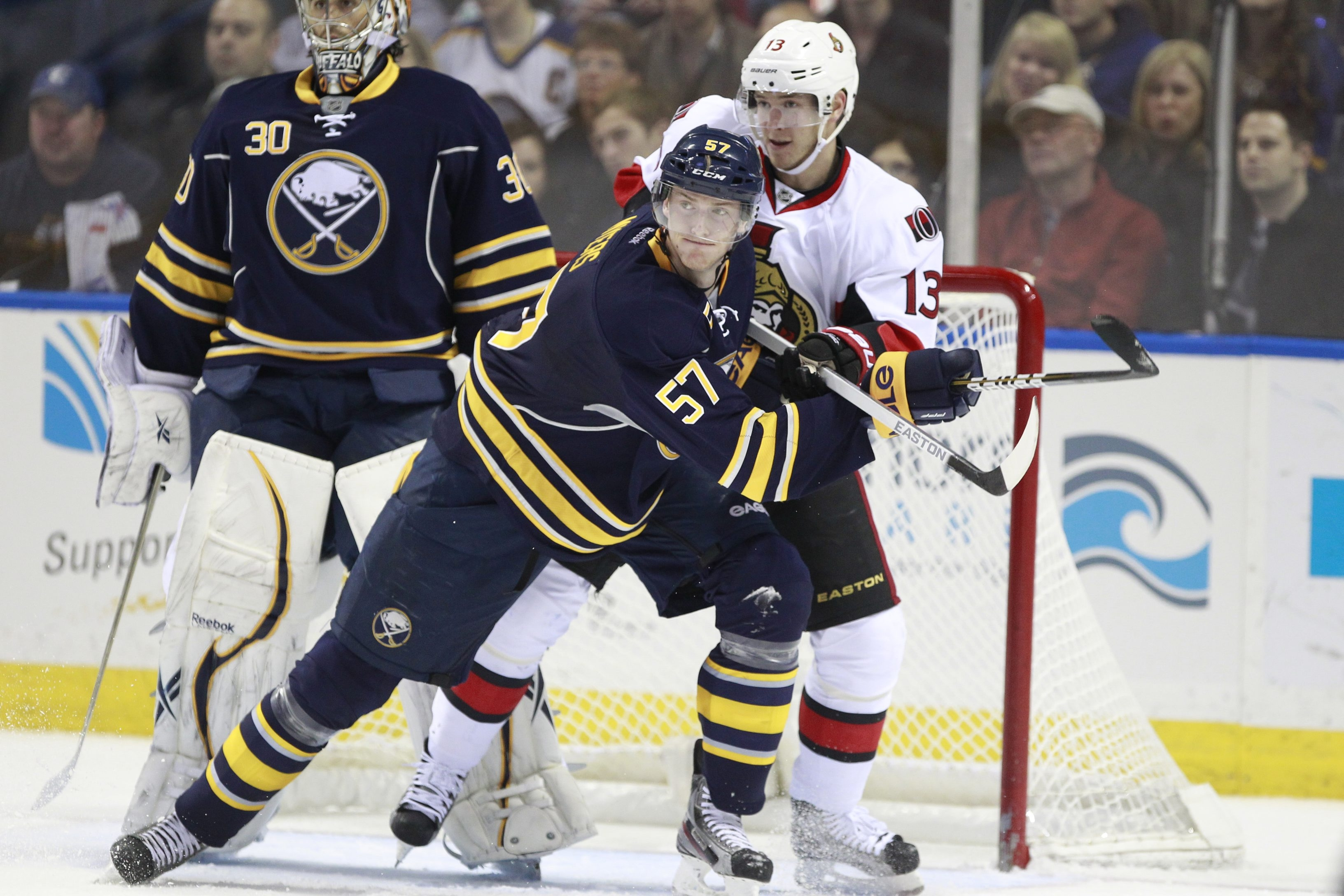 The Sabres' Tyler Myers had only eight points this season, his worst statistically.