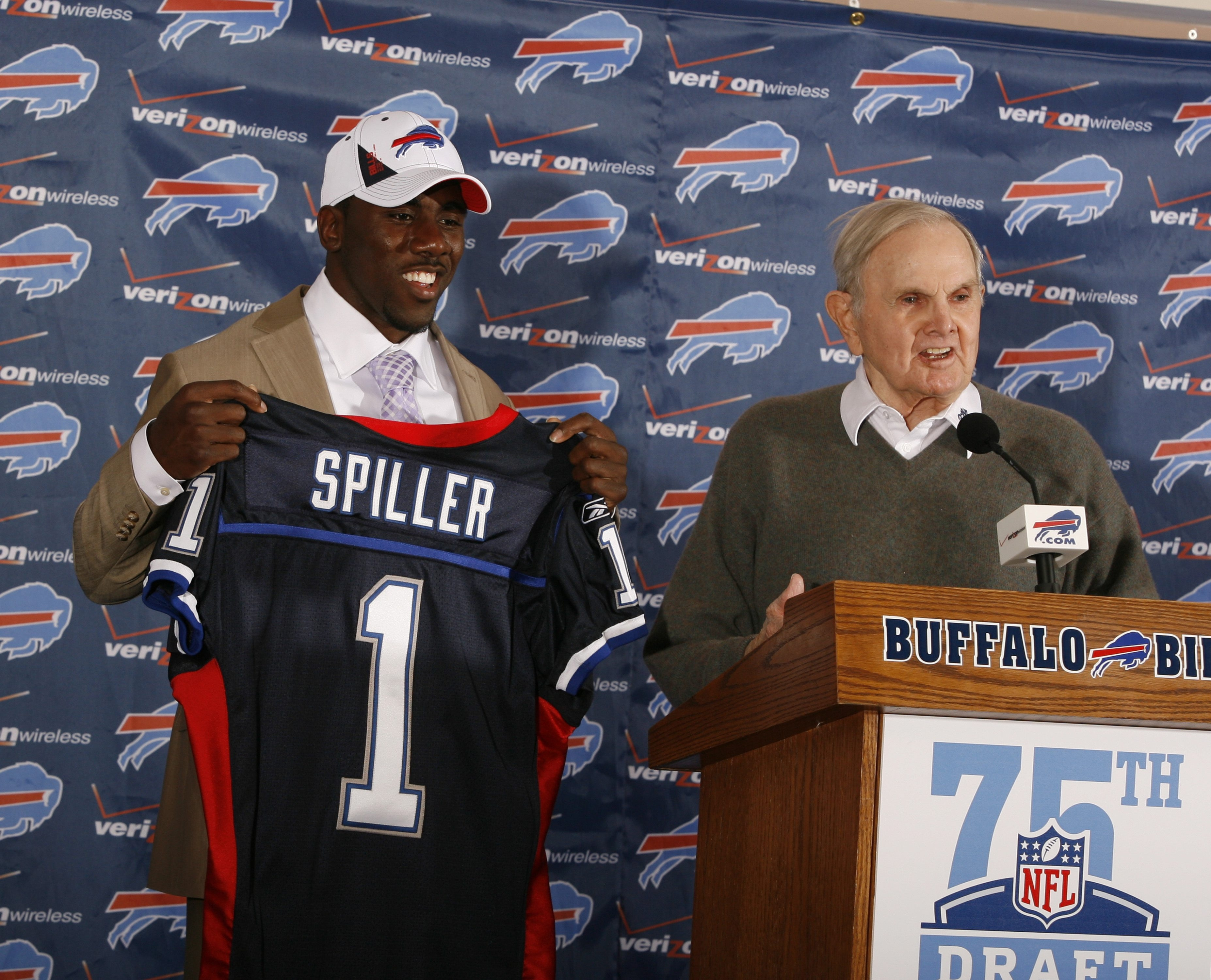 Running back C.J. Spiller was a surprise pick at ninth overall by the Bills in 2010, but he has turned into a very productive player. Nate Clements was taken 21st overall in 2001, one of five starters the Bills grabbed in the first three rounds. The cornerback from Ohio State has picked off  36 passes in his career and went to the 2004 Pro Bowl, but by choosing him the quarterback-needy Bills passed on Drew Brees, who went 11 picks later to San Diego.