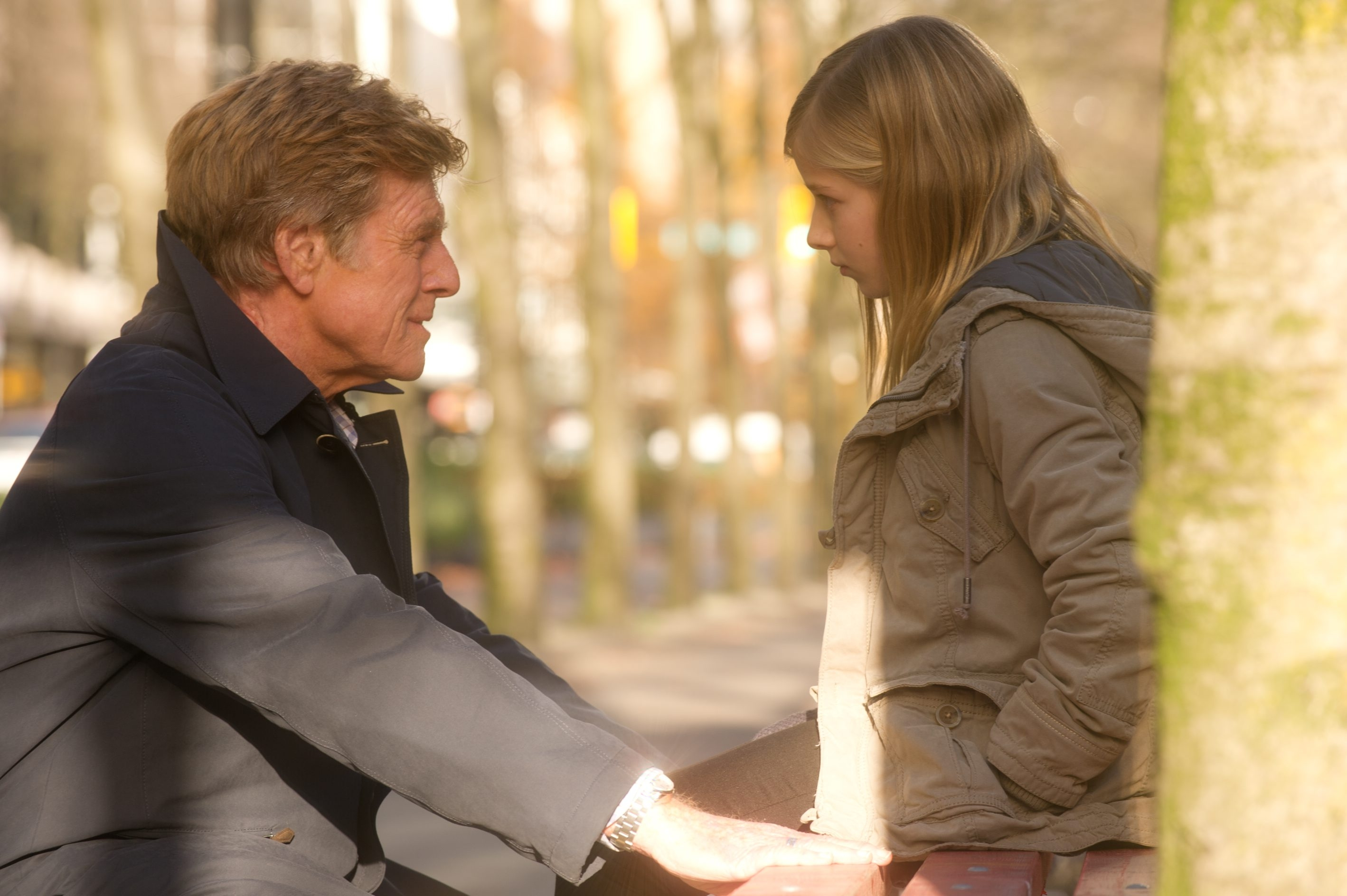 "Robert Redford and Jackie Evancho star in ""The Company You Keep."""