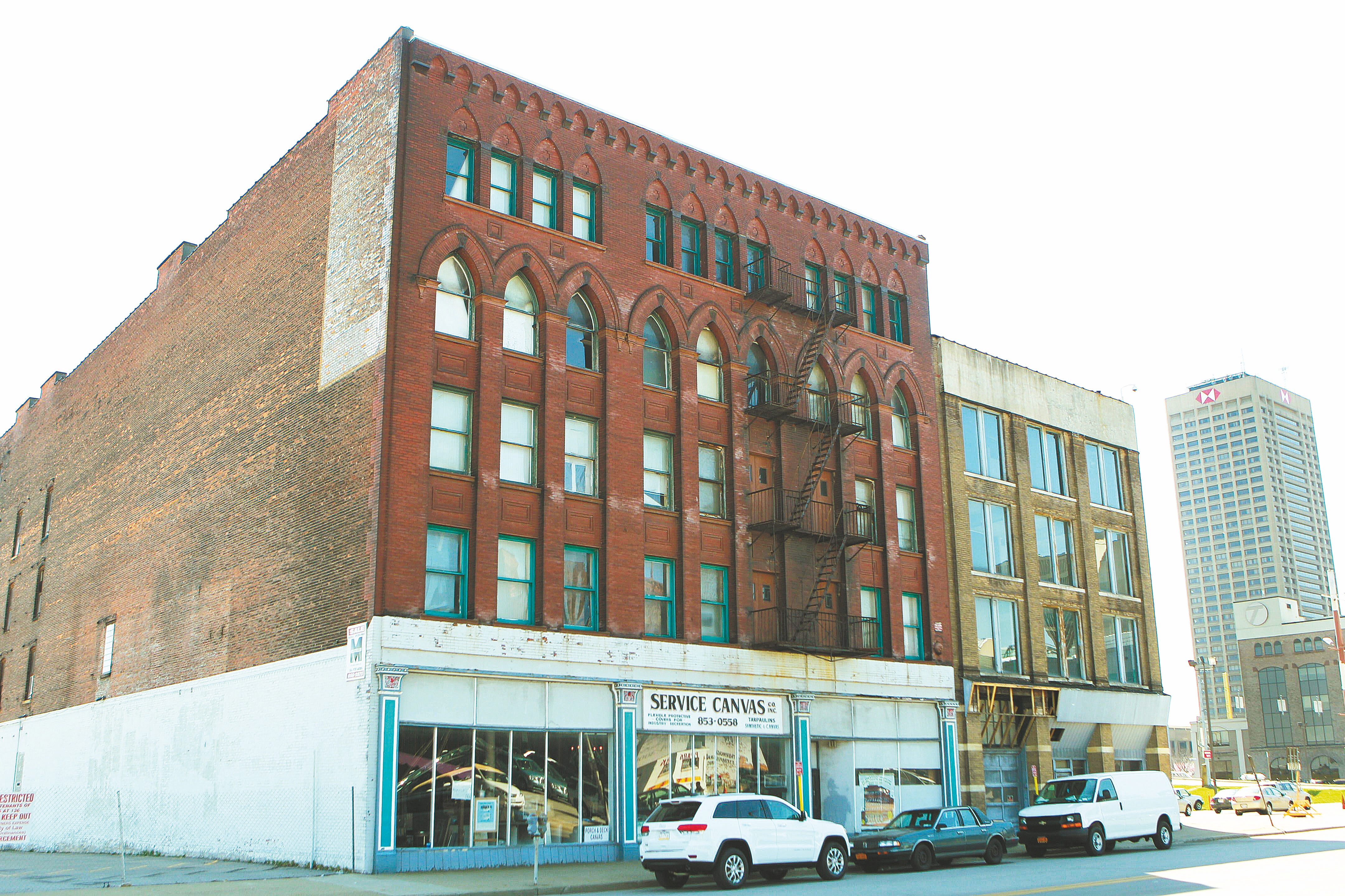 Local developer Jake Schneider is making these buildings at 145 and 149 Swan St. in Buffalo into apartments with the help of tax breaks from the Erie County Industrial Development Agency.