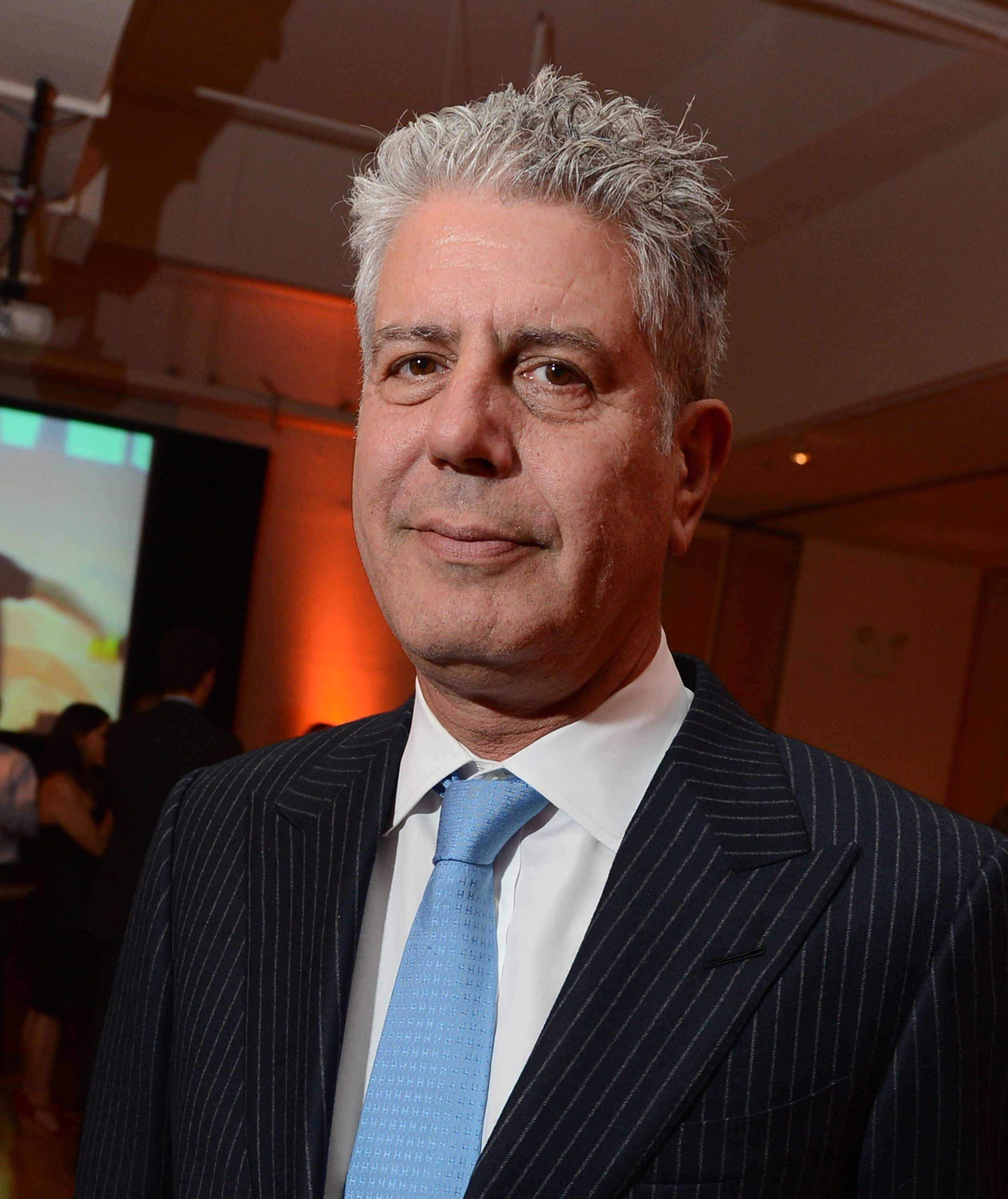 Anthony Bourdain, celebrated chef and TV personality, was full of blunt honesty at Shea's on Monday. (Getty Images)