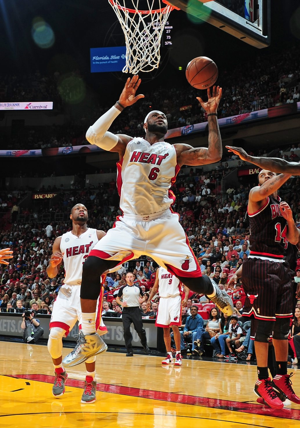 LeBron James and the Miami Heat are going for a repeat championship.