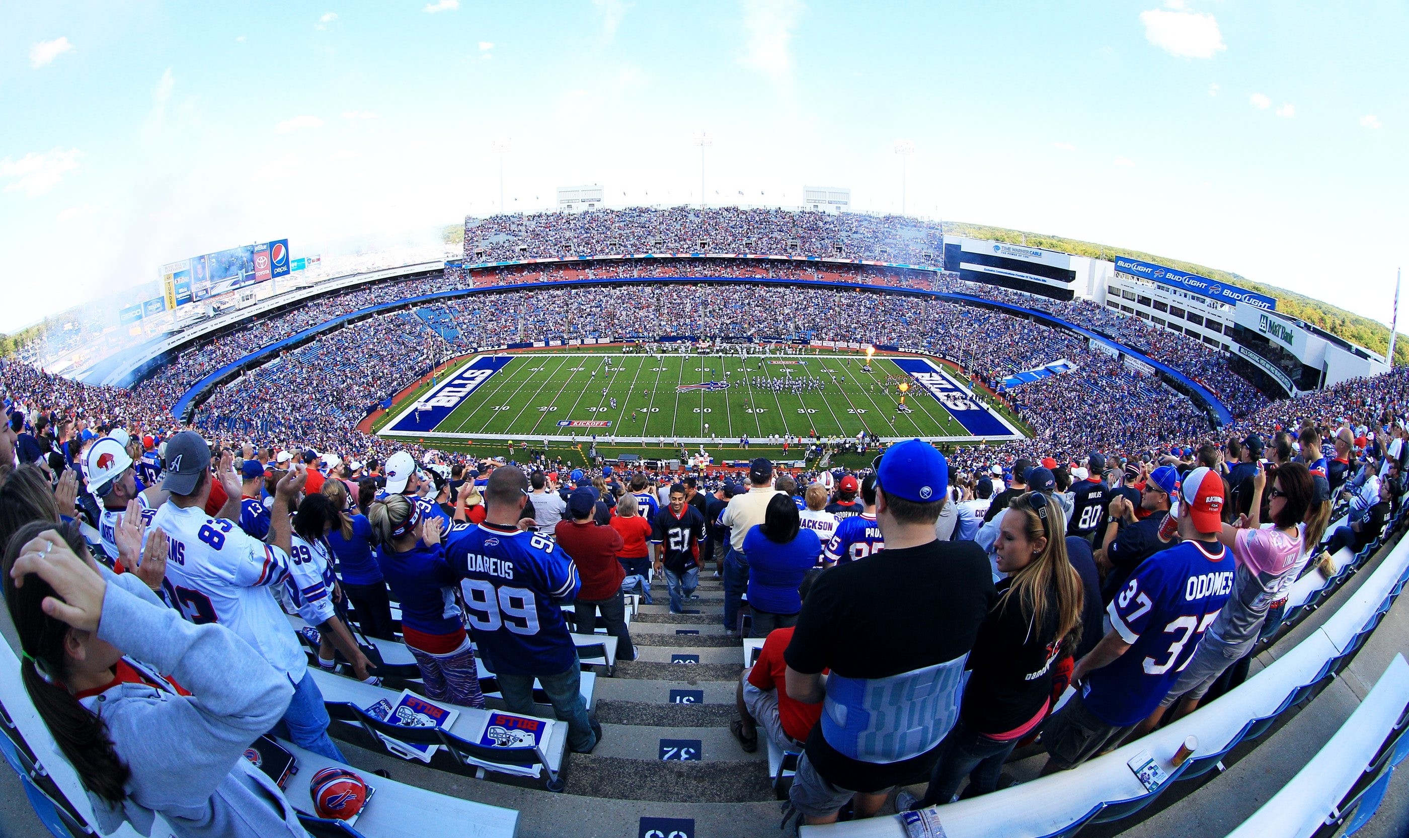 This file photo shows fans enjoying a Bills game at Ralph Wilson Stadium in Orchard Park.  James P. McCoy/Buffalo News file photo