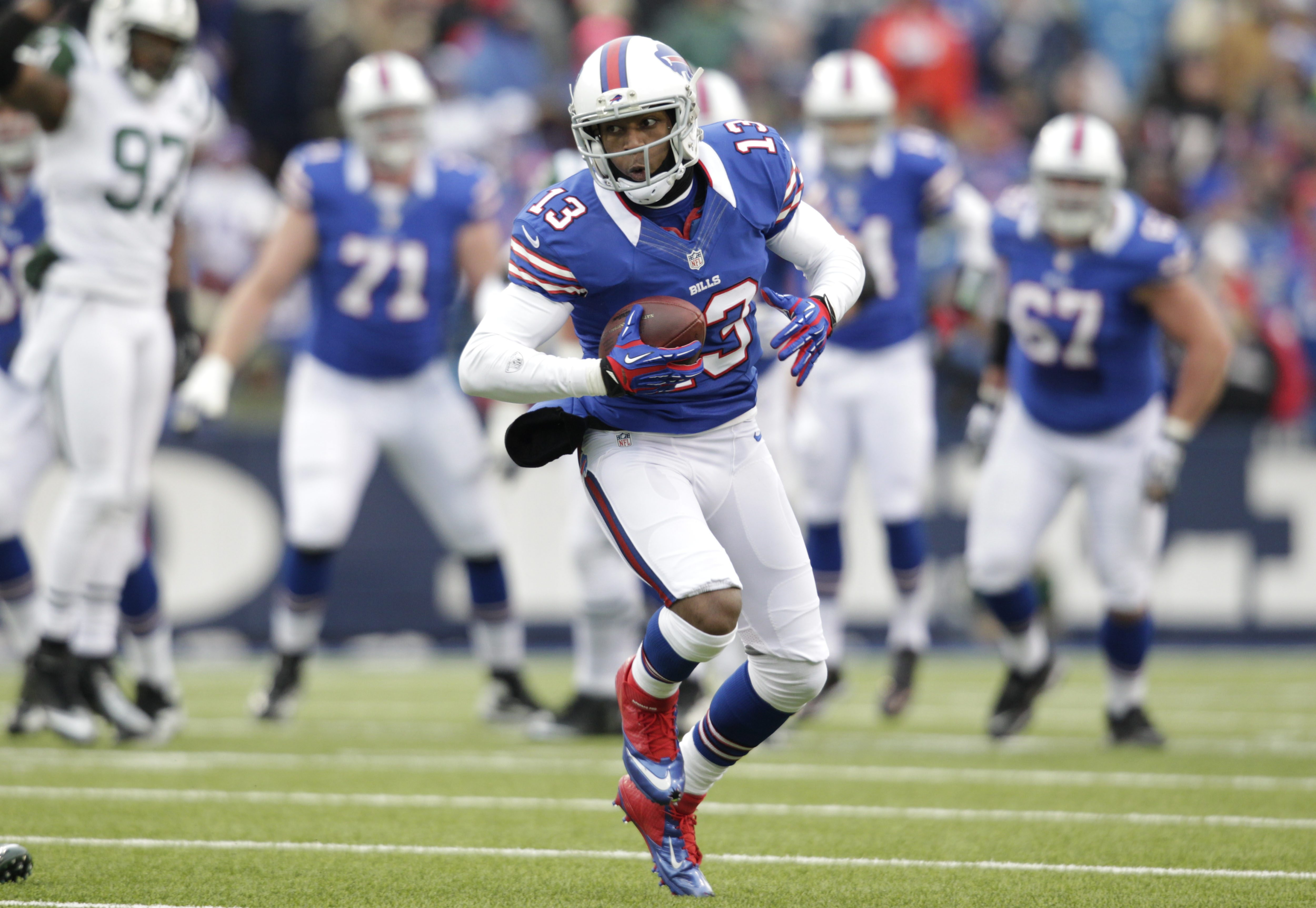 Stevie Johnson said his tweet a few weeks ago suggesting that North Korea bomb Foxborough is 'a tough one to deal with' after Monday.