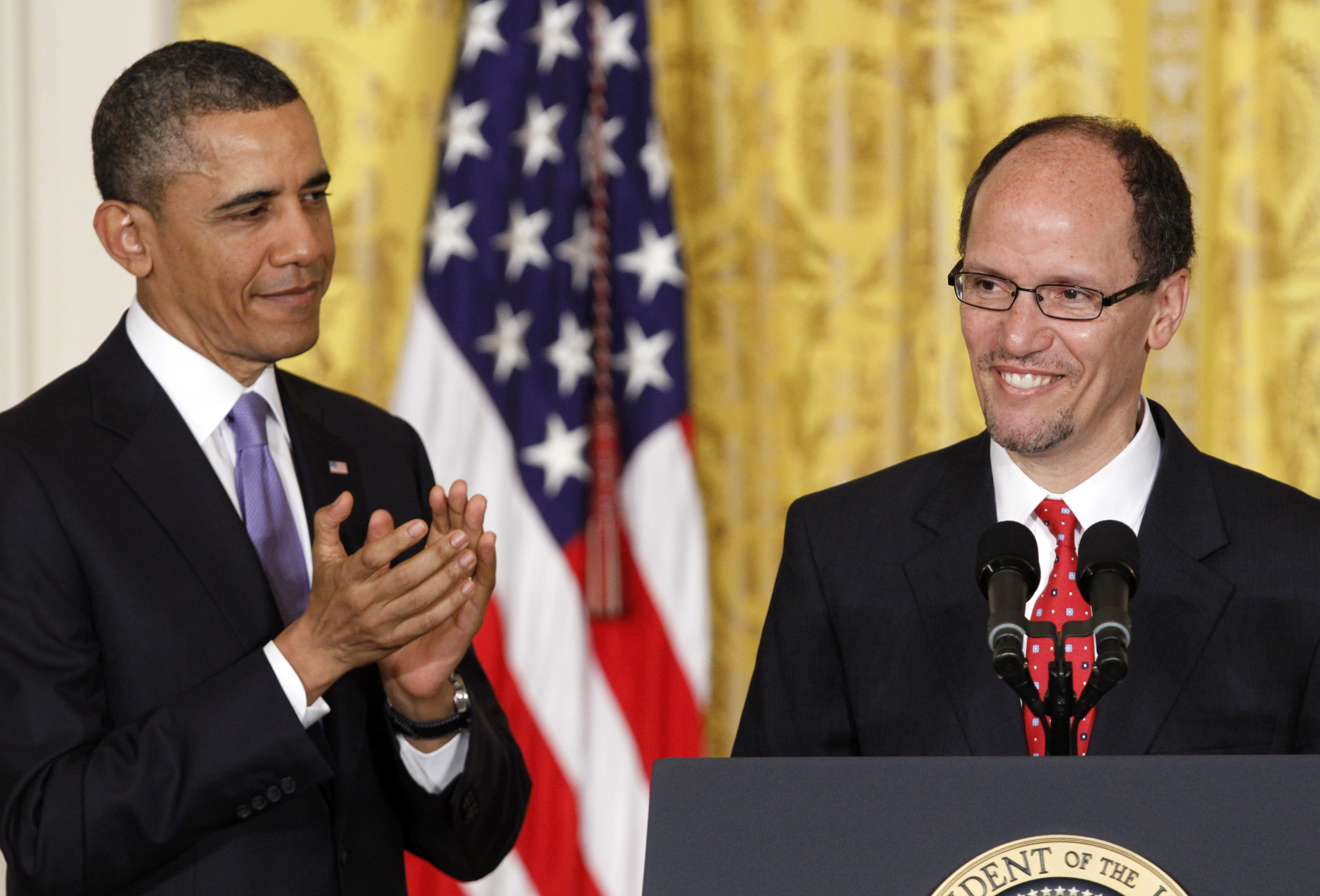 Buffalo native Thomas Perez, hailed by President Obama at announcement last month, faces rough sledding Thursday.