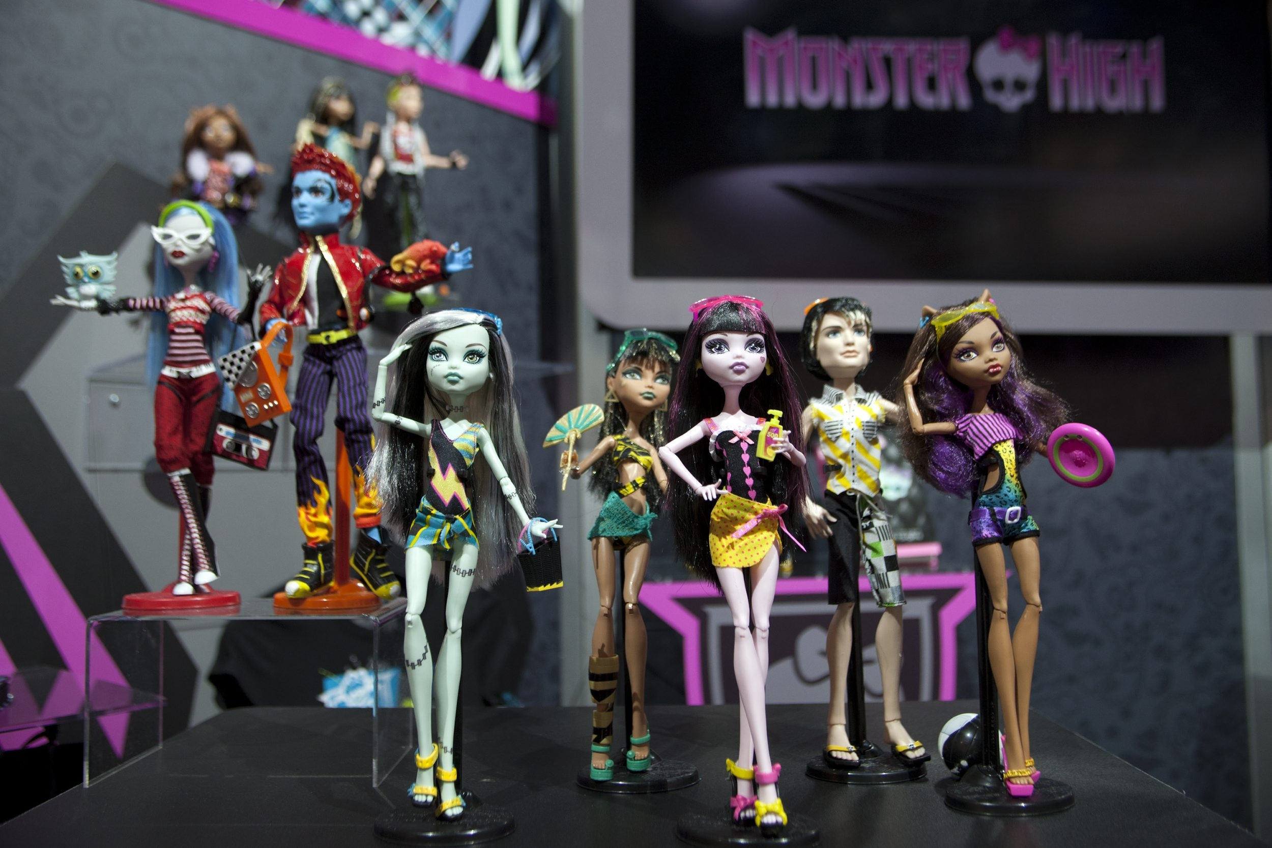 Mattel's Monster High doll line, based on the offspring of famous monsters, has grown to the No. 2 doll category in three years of existence. Monster High sales drove Mattel's girls band category up 56 percent worldwide.