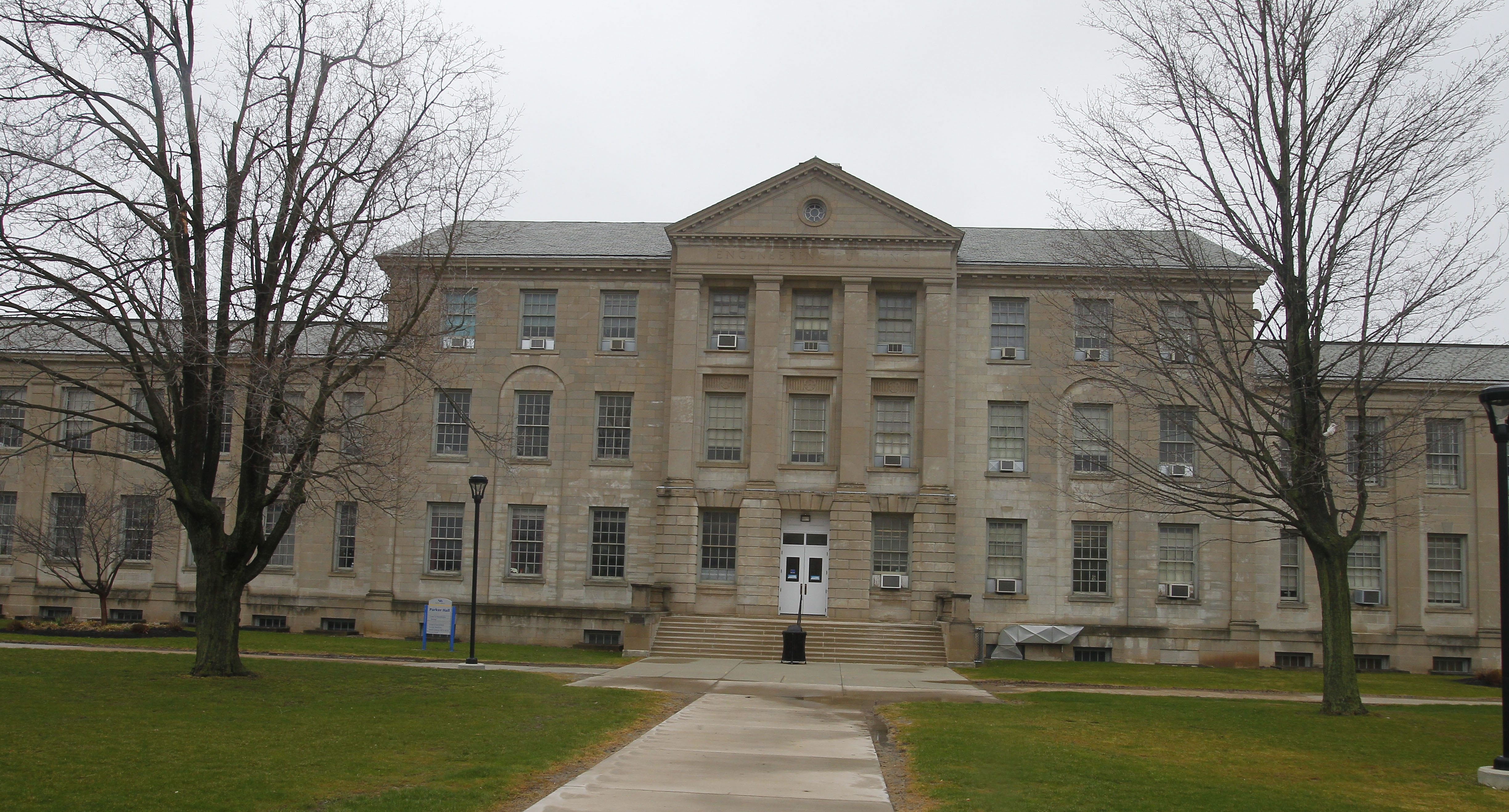 The cost of renovating of Parker Hall, above, and Townsend Hall, not pictured, and relocating some departments from the North Campus in Amherst was estimated at $91 million.