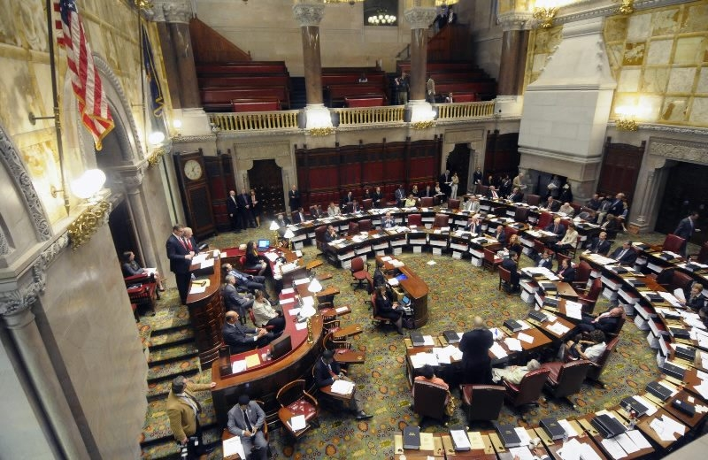 State Senate lawmakers at work in Albany.  AP file photo