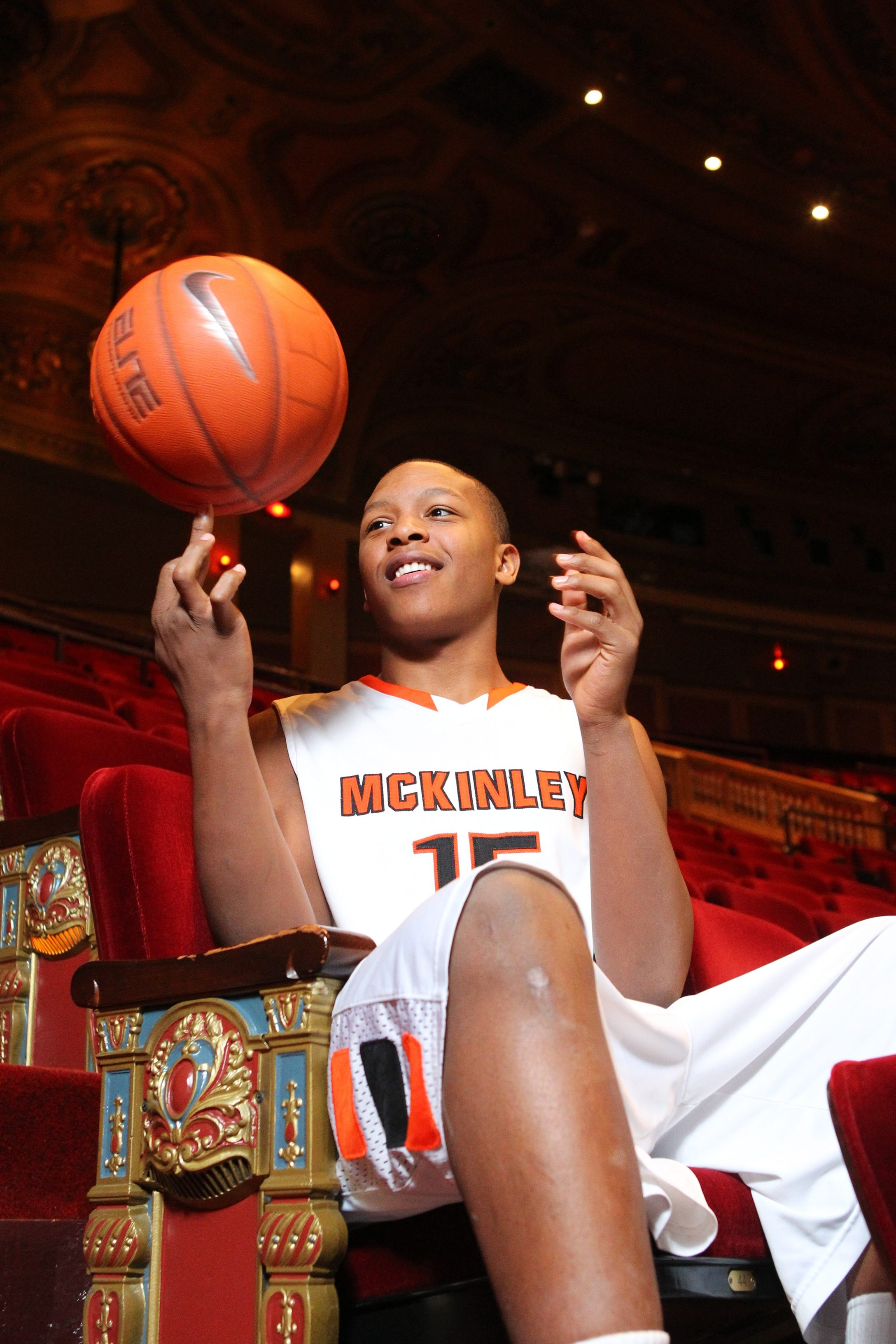 All Western New York basketball first team Marcus Morris from McKinley at Shea's in Buffalo Monday, March 25, 2013.  (Mark Mulville/Buffalo News)