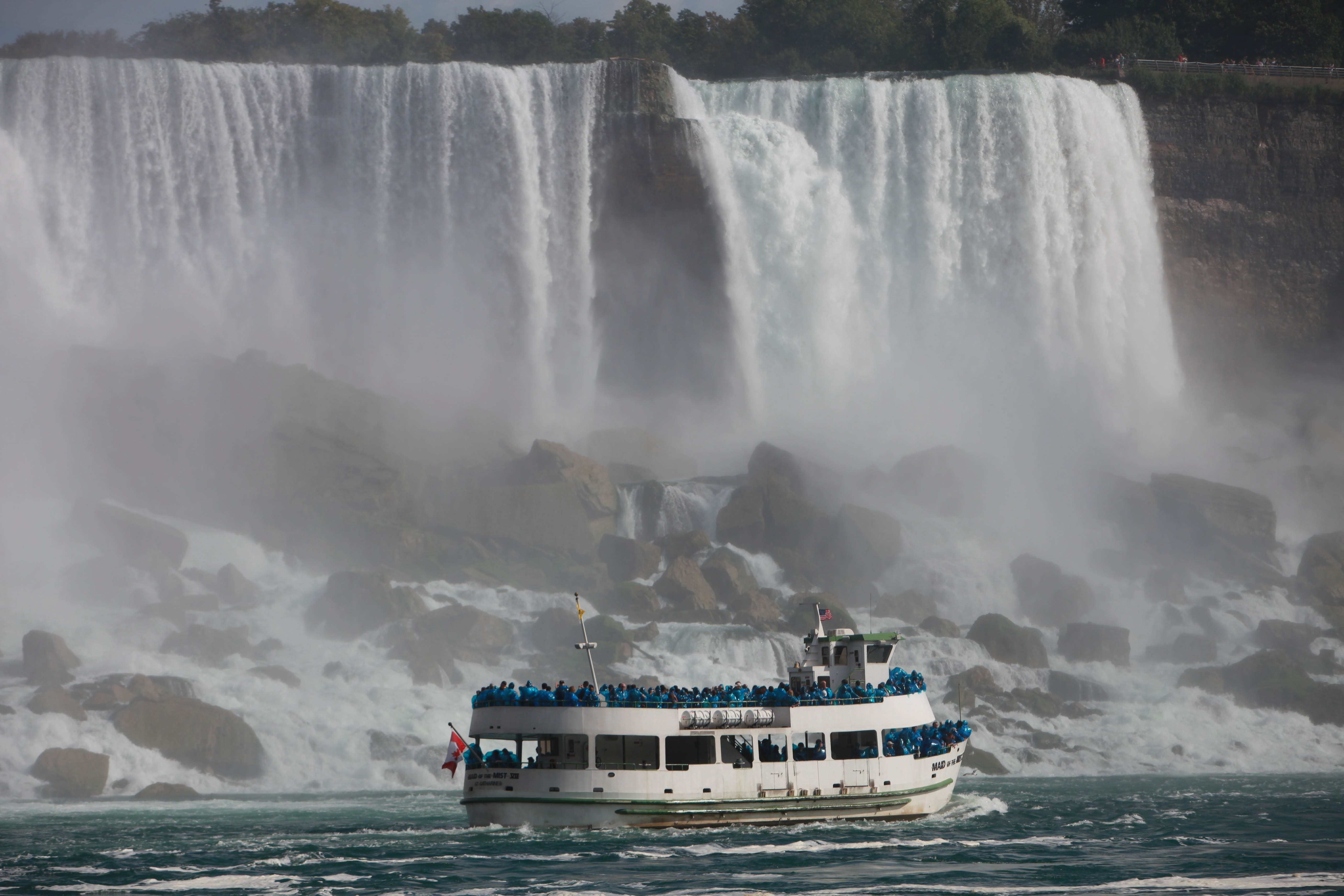 A State Supreme Court judge today put a temporarily halt to construction on the Maid of the Mist's new boat storage facility in the Niagara Gorge. (Sharon Cantillon / Buffalo News file photo)