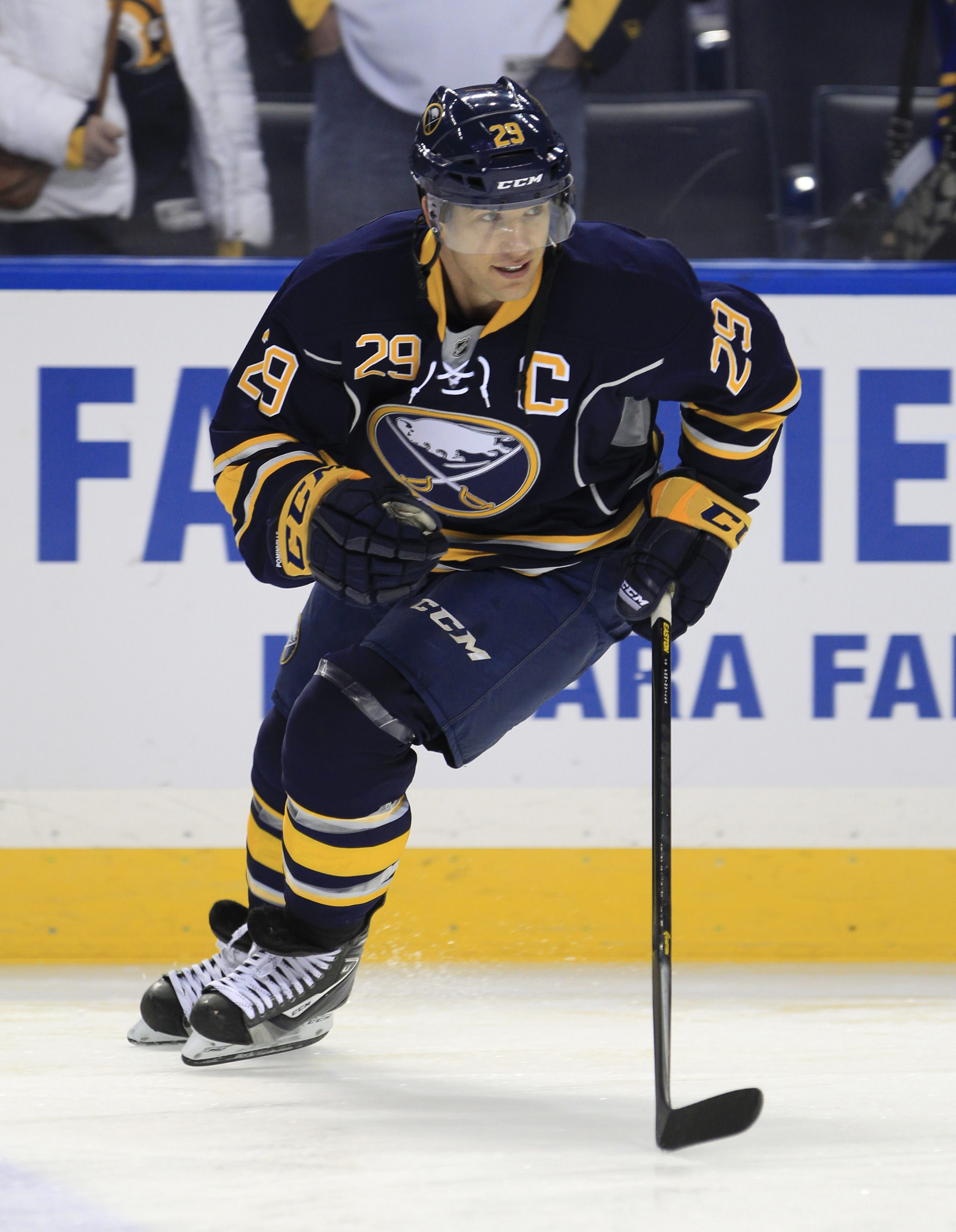 Jason Pominville told reporters in L.A. he was shocked that the Sabres traded him.